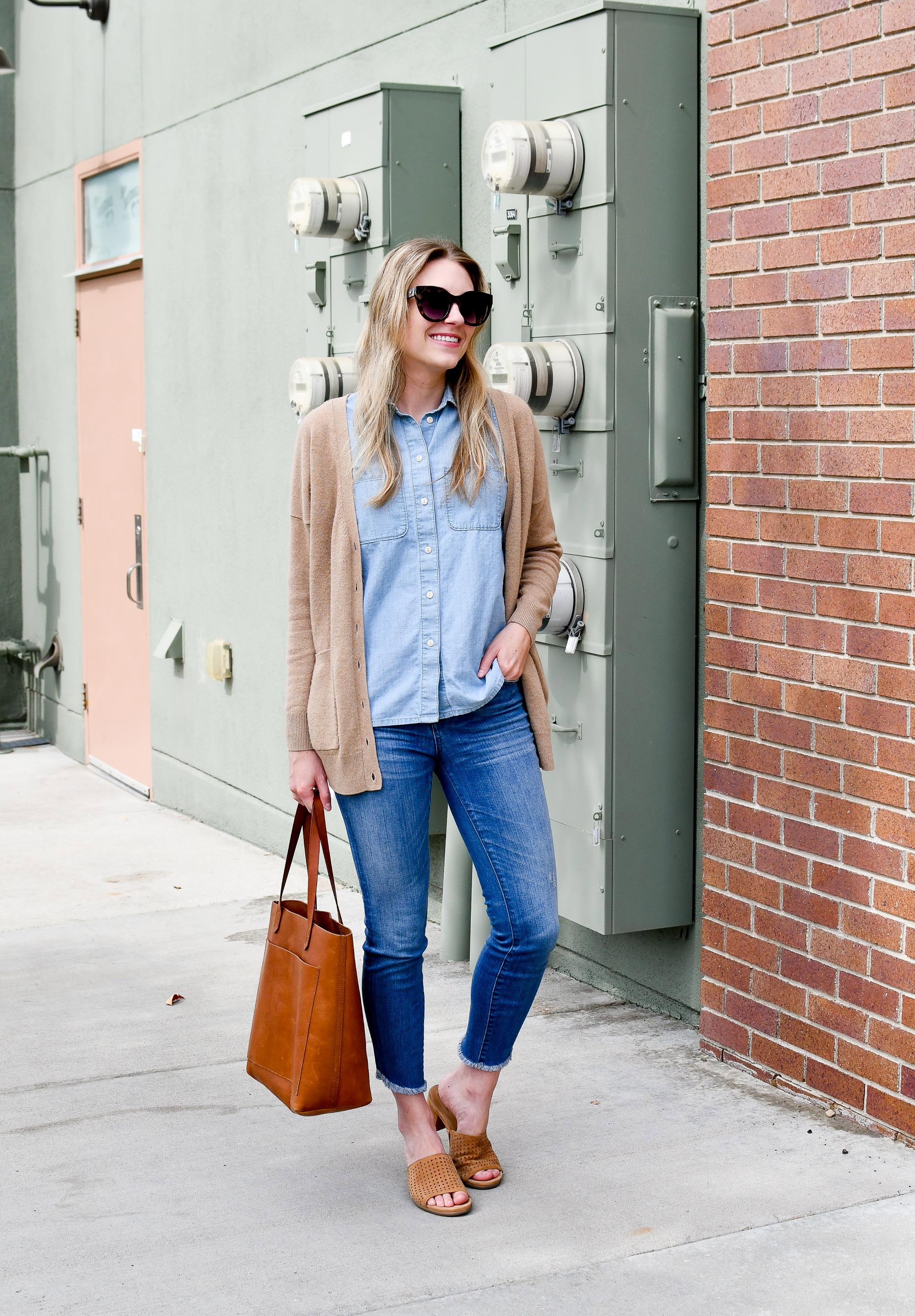 Summer work outfit with Earth Ibiza sandals — Cotton Cashmere Cat Hair