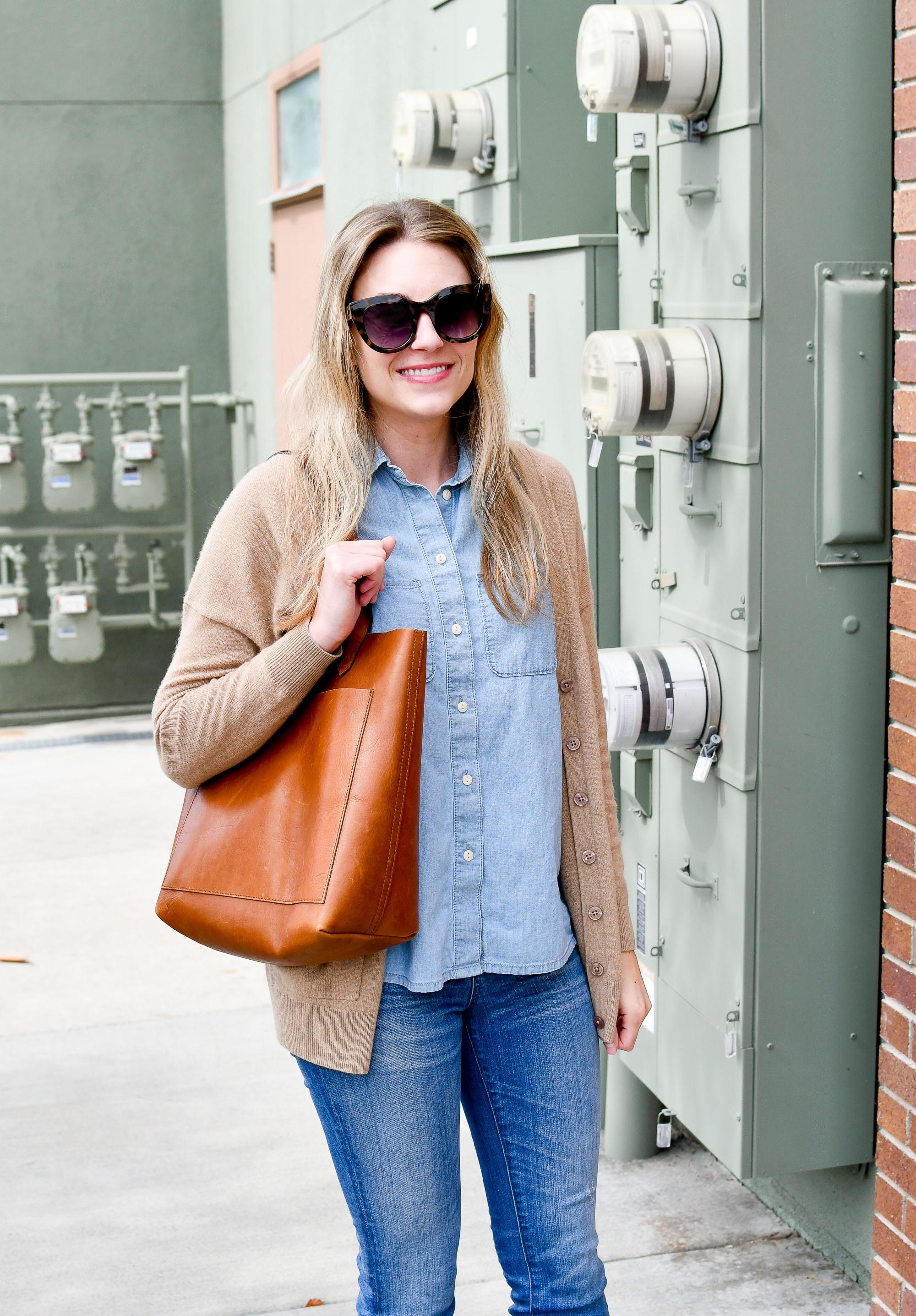 Madewell medium Transport tote — Cotton Cashmere Cat Hair