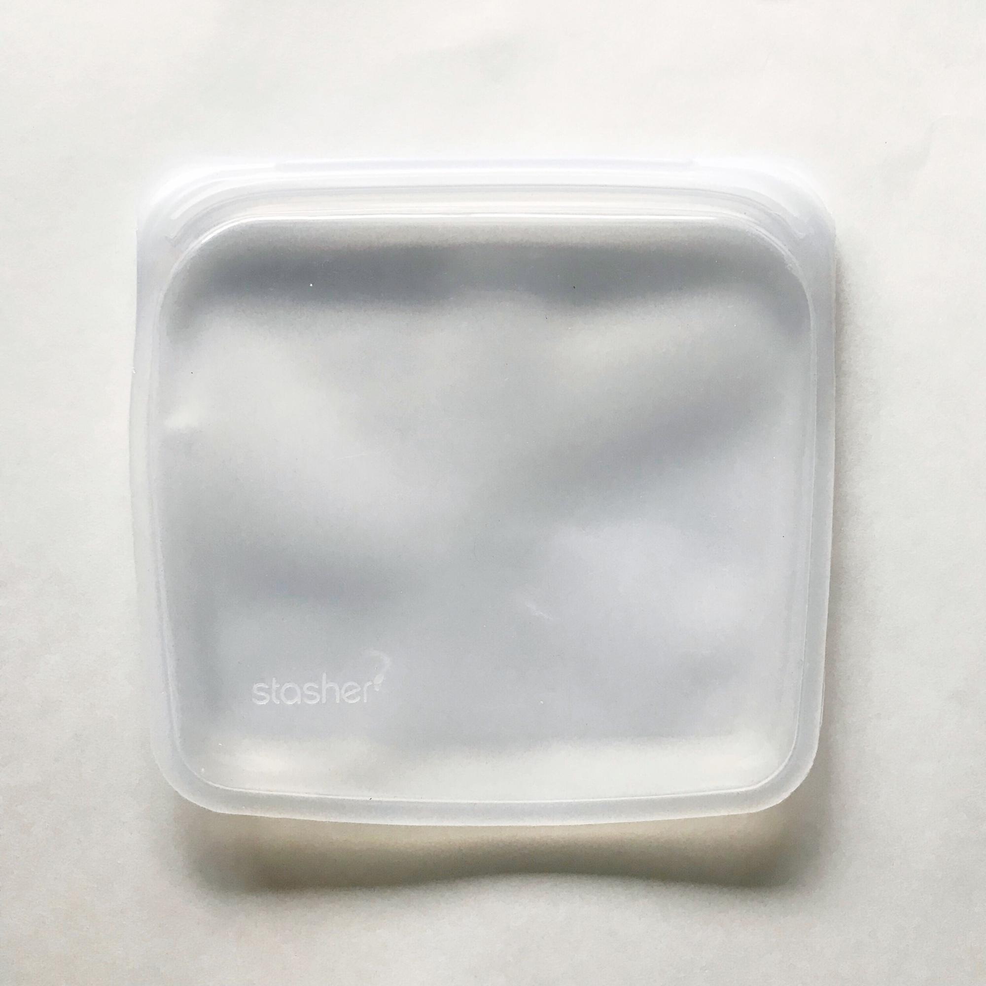 MightyFix Stasher silicone sandwich bag — Cotton Cashmere Cat Hair
