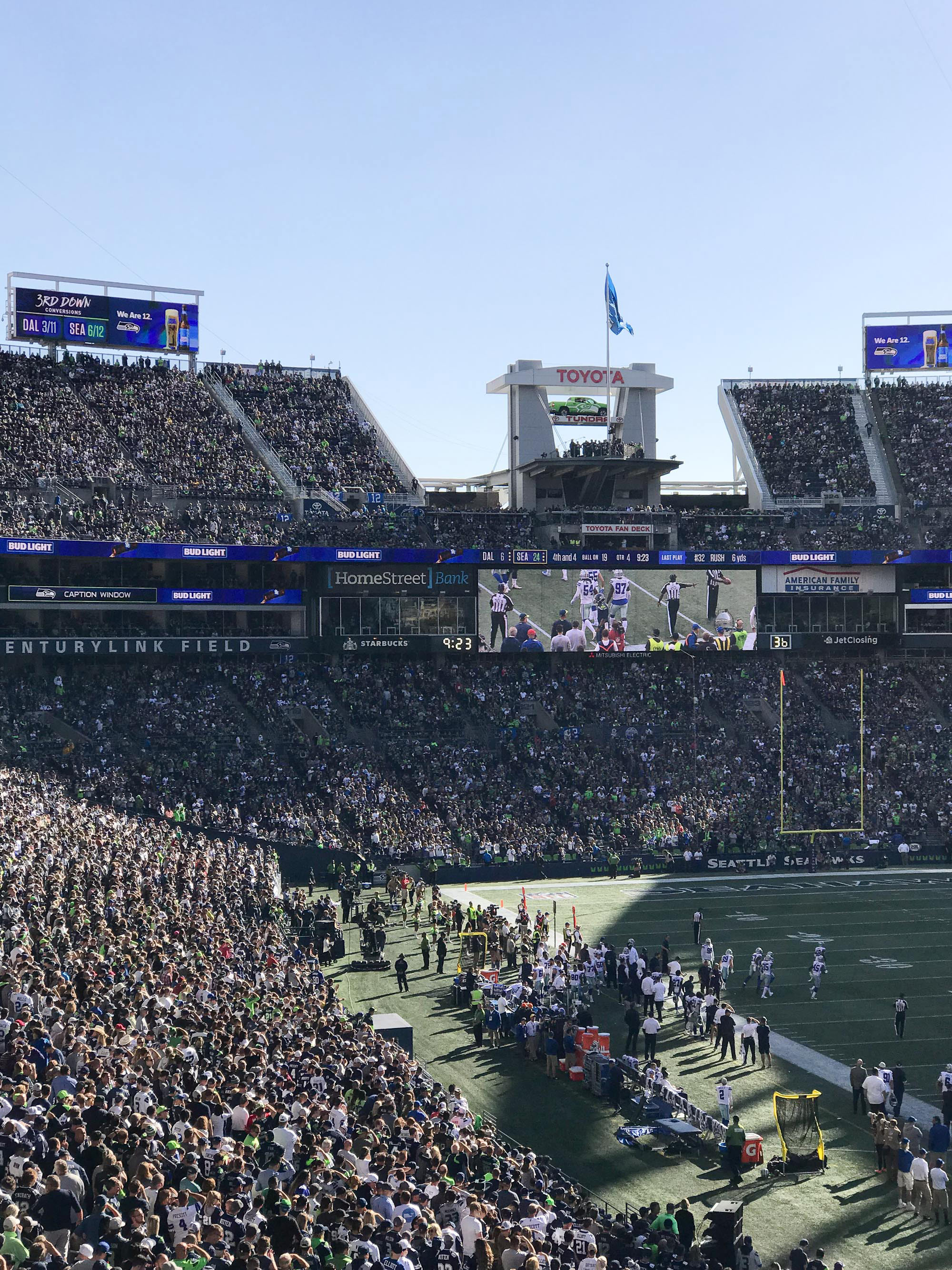 Seattle Seahawks vs Dallas Cowboys — Cotton Cashmere Cat Hair