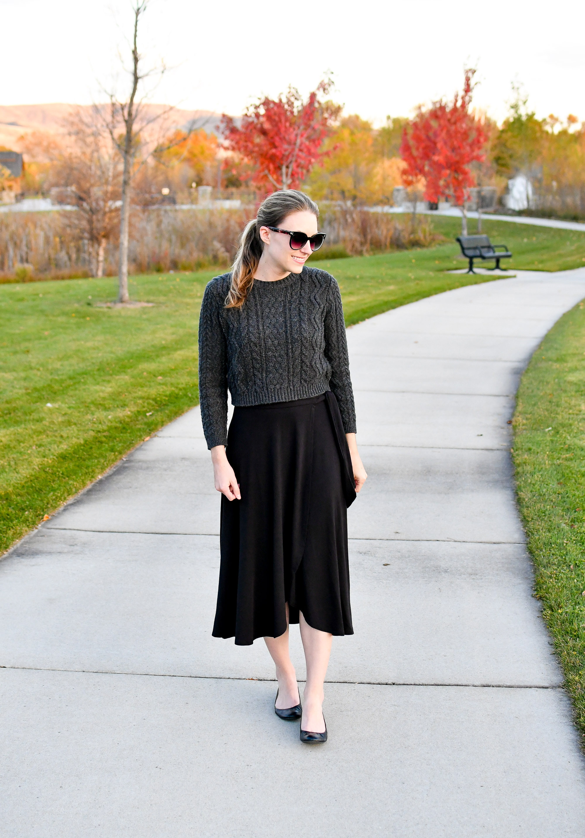 Amour Vert Mareike knit skirt in black — Cotton Cashmere Cat Hair