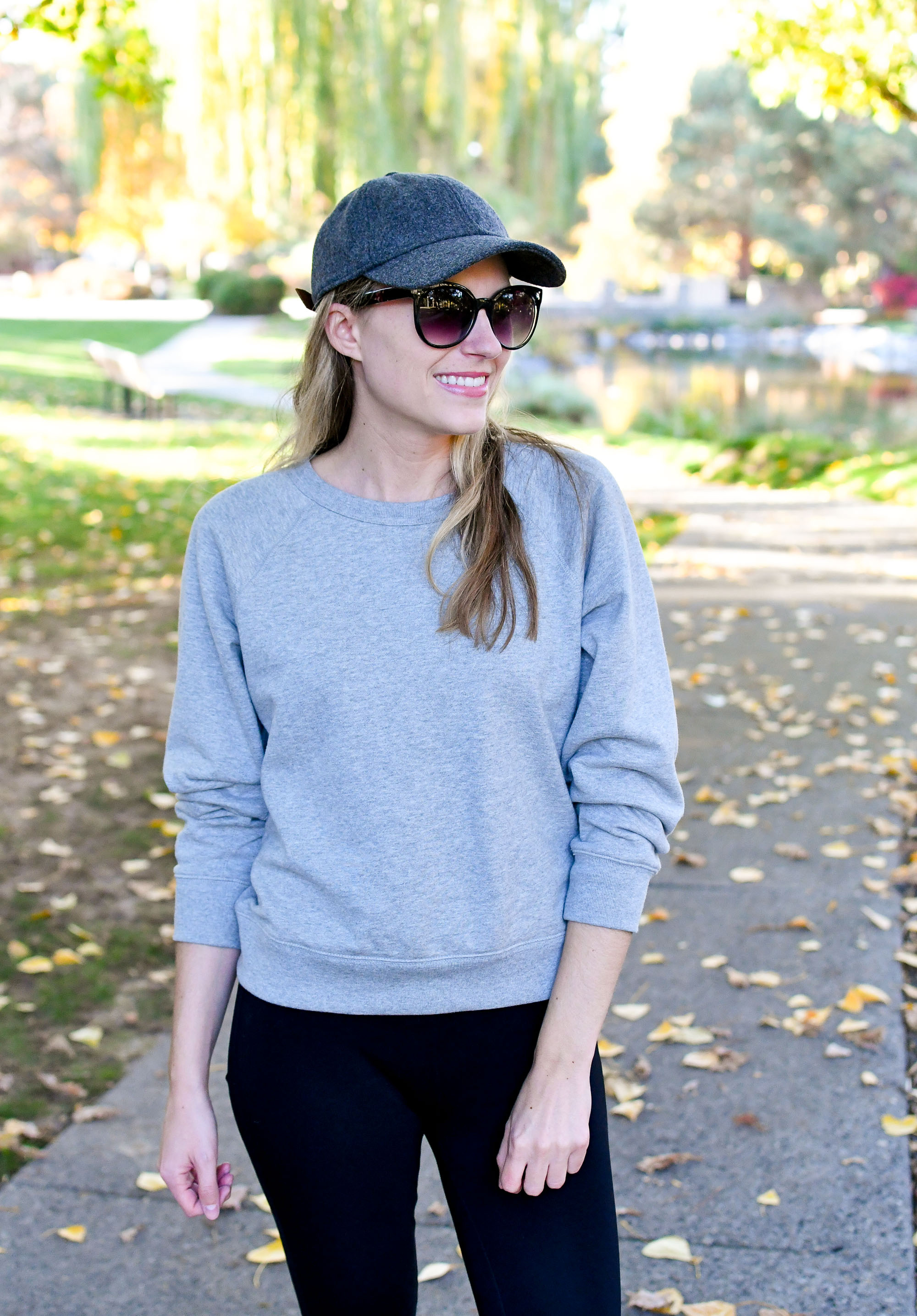 Everlane lightweight French terry crew outfit — Cotton Cashmere Cat Hair