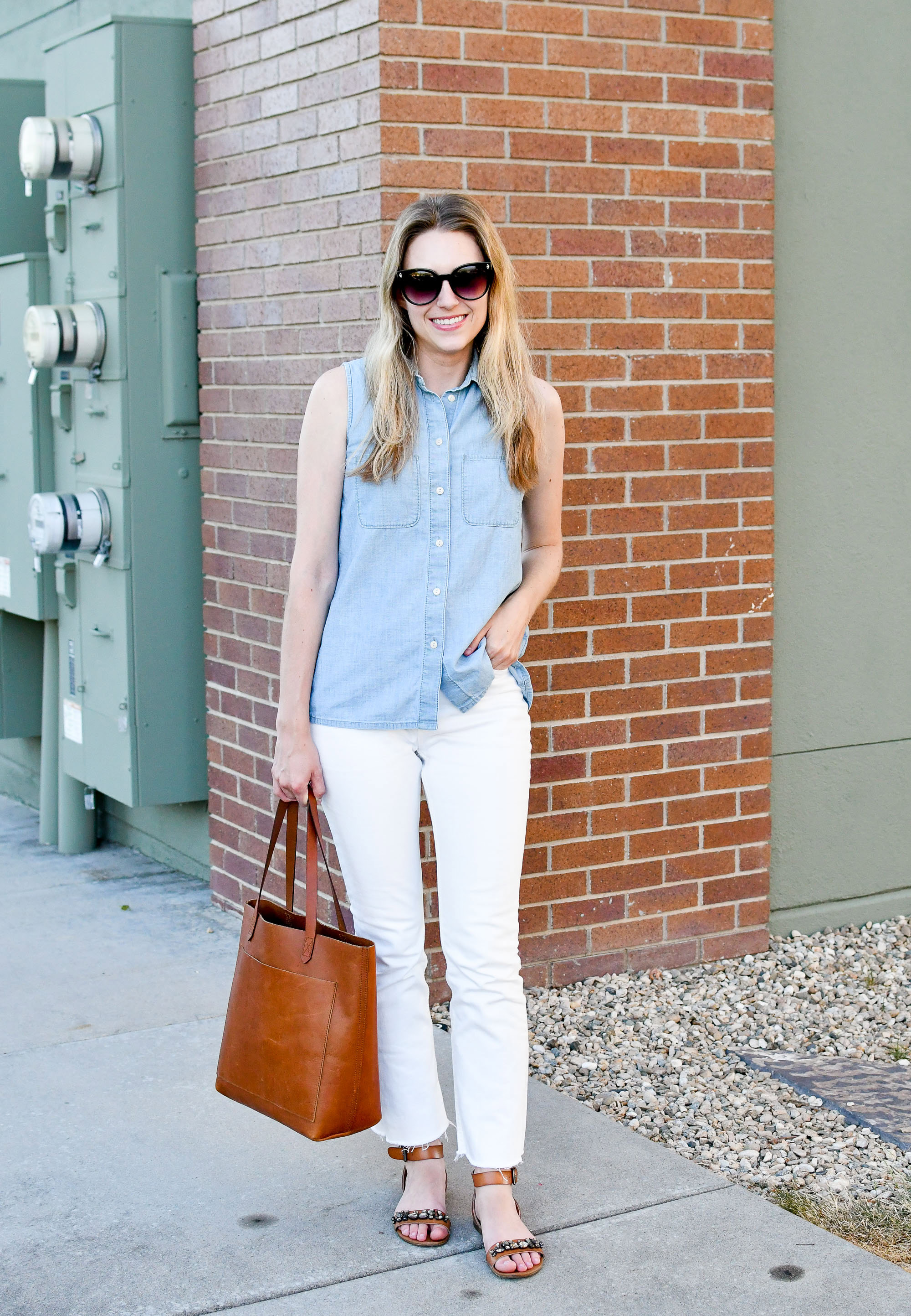 Favorite outfit: Subtle double denim — Cotton Cashmere Cat Hair