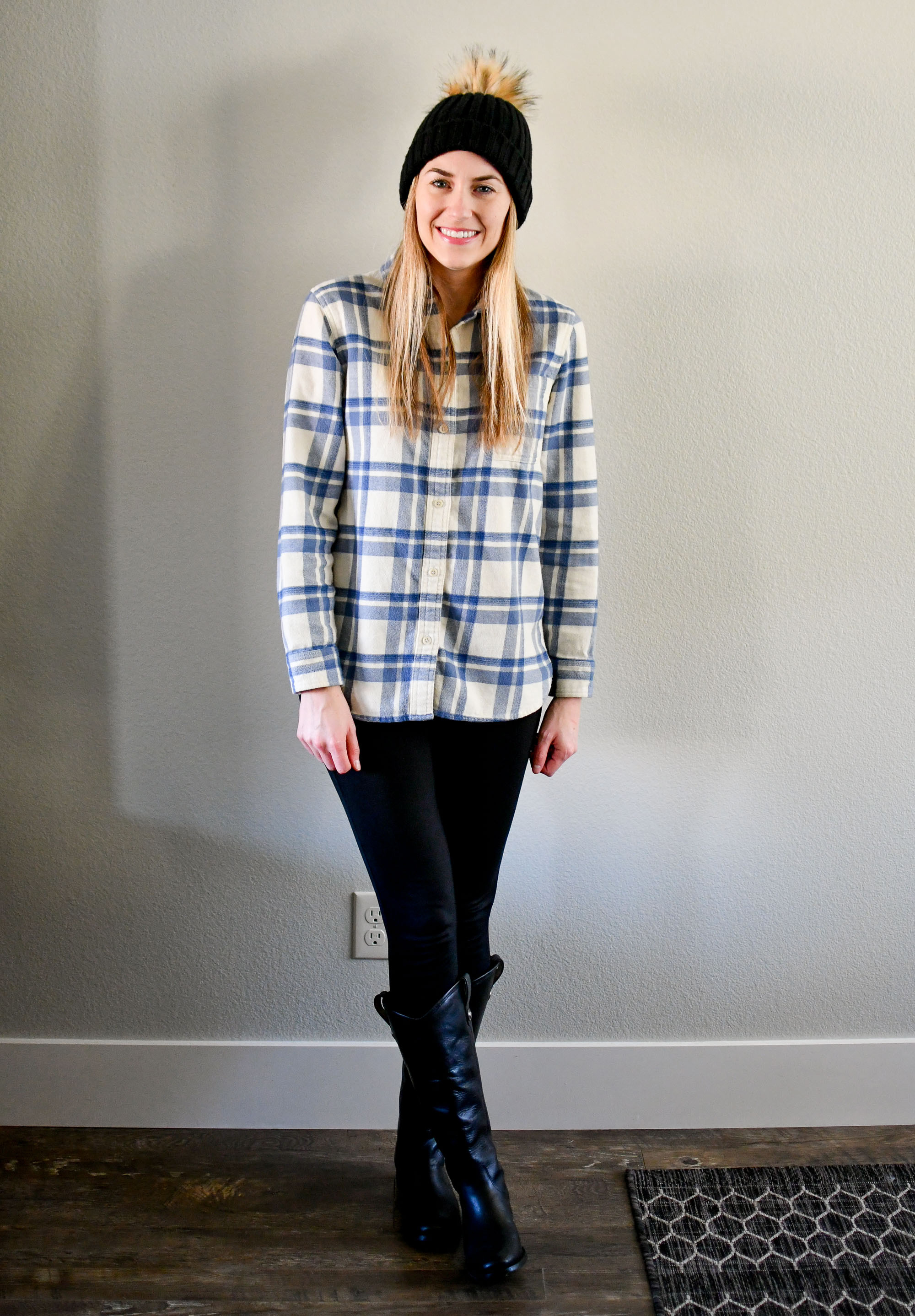 January Style Sudoku: Outfit 1 — Cotton Cashmere Cat Hair