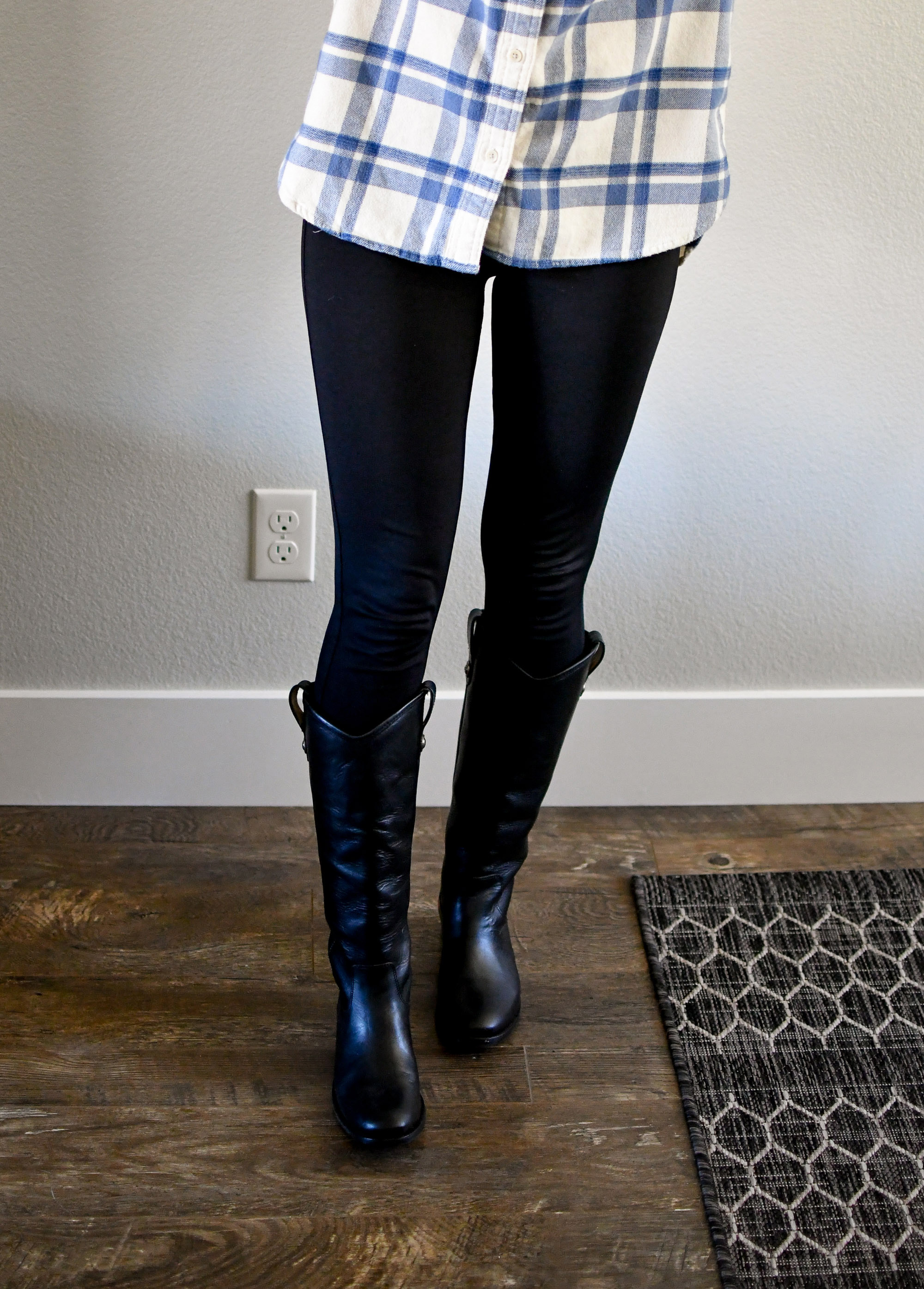 Frye Melissa Button boots casual winter outfit — Cotton Cashmere Cat Hair