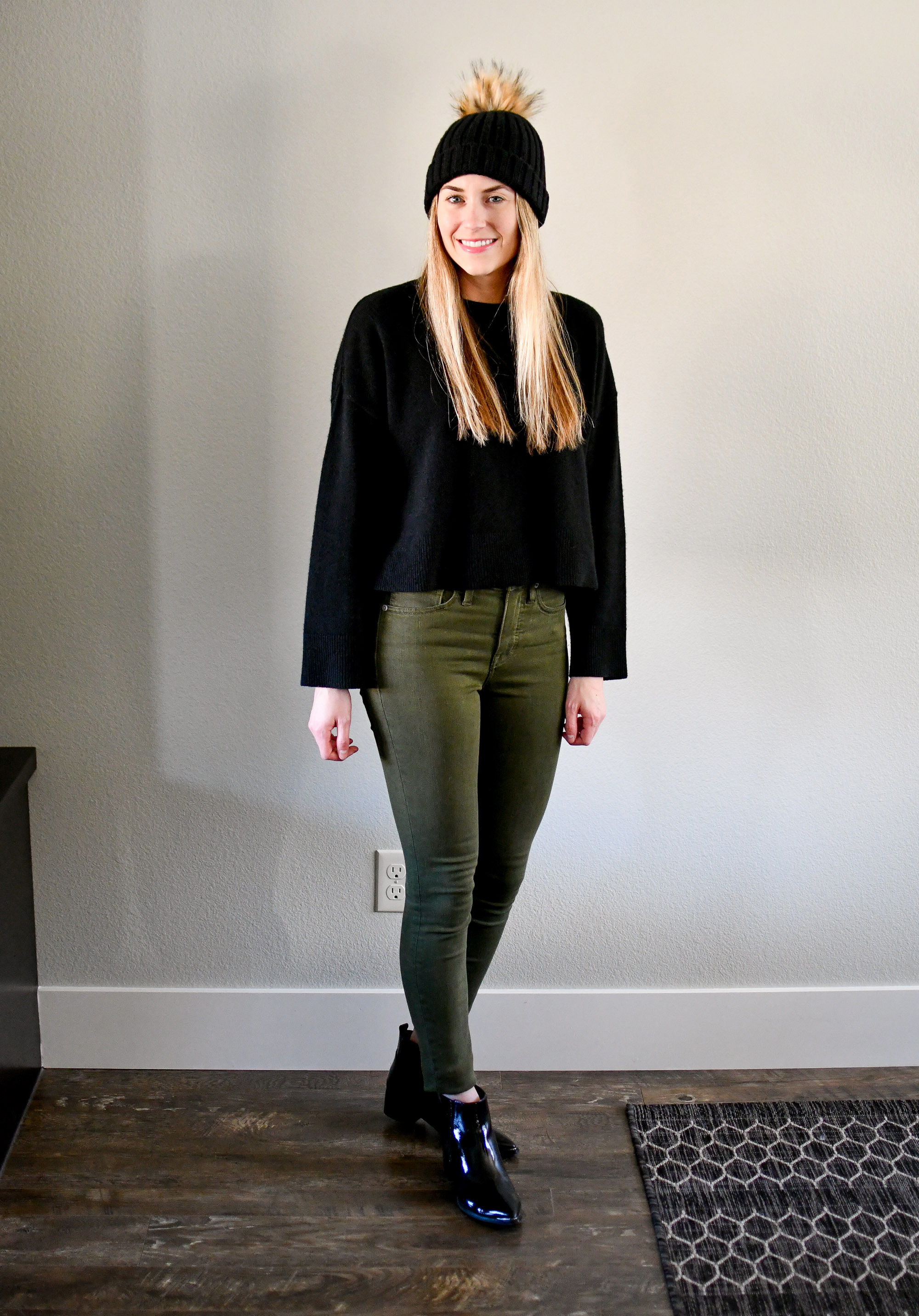 January Style Sudoku: Outfit 10 — Cotton Cashmere Cat Hair