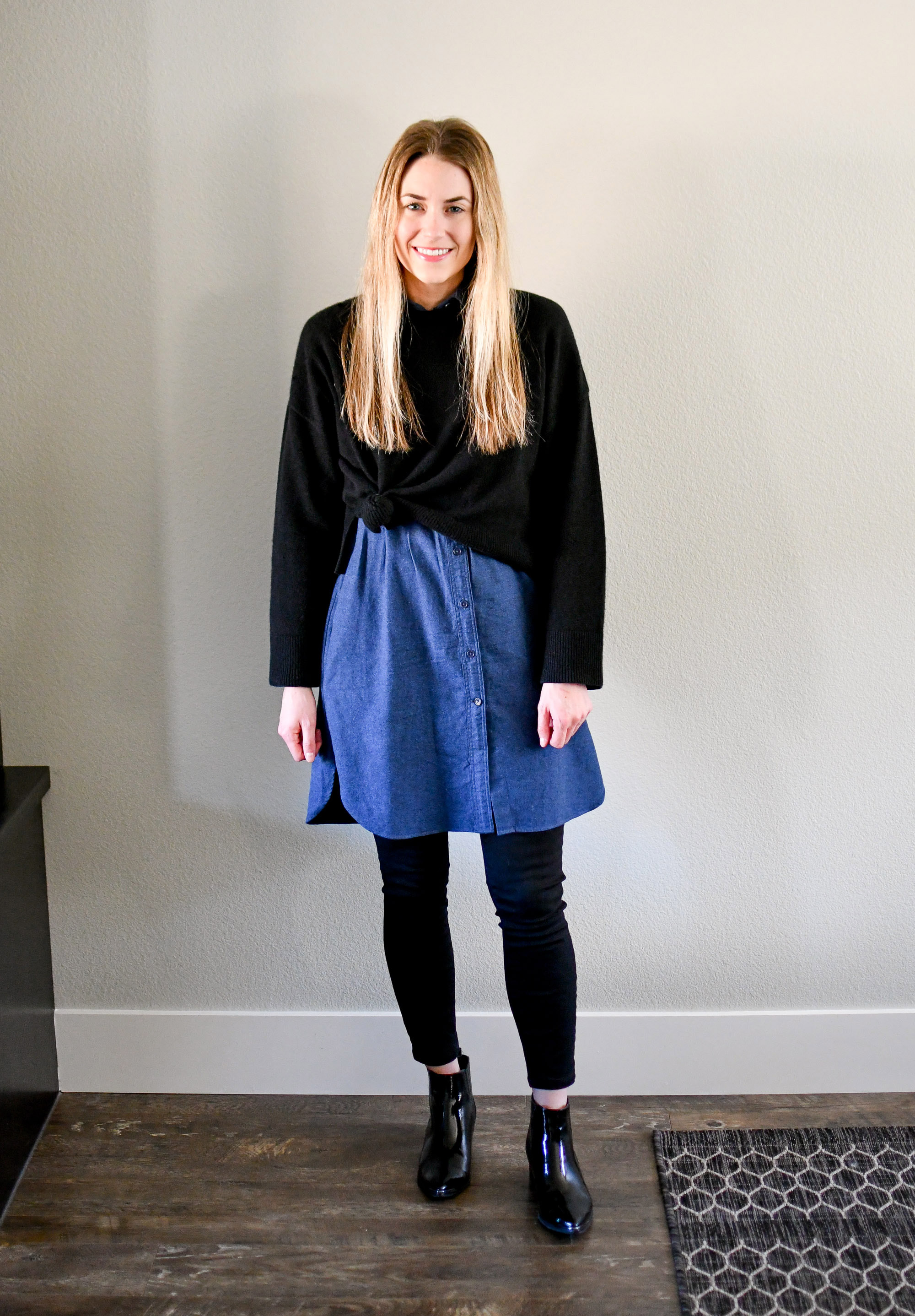 January Style Sudoku: Outfit 14 — Cotton Cashmere Cat Hair