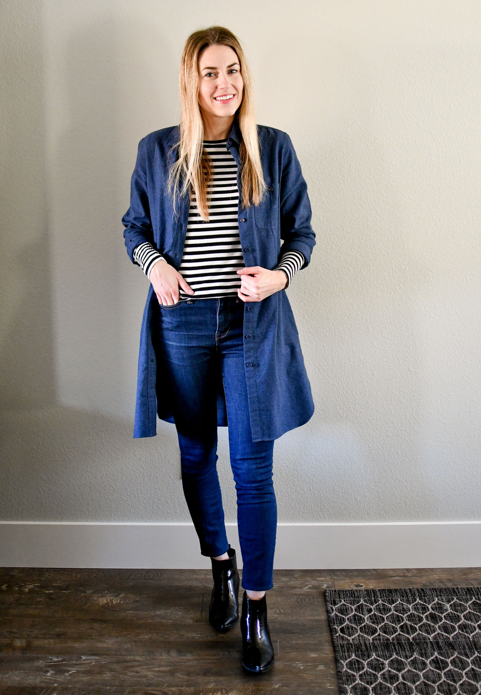 January Style Sudoku: Outfit 11 — Cotton Cashmere Cat Hair