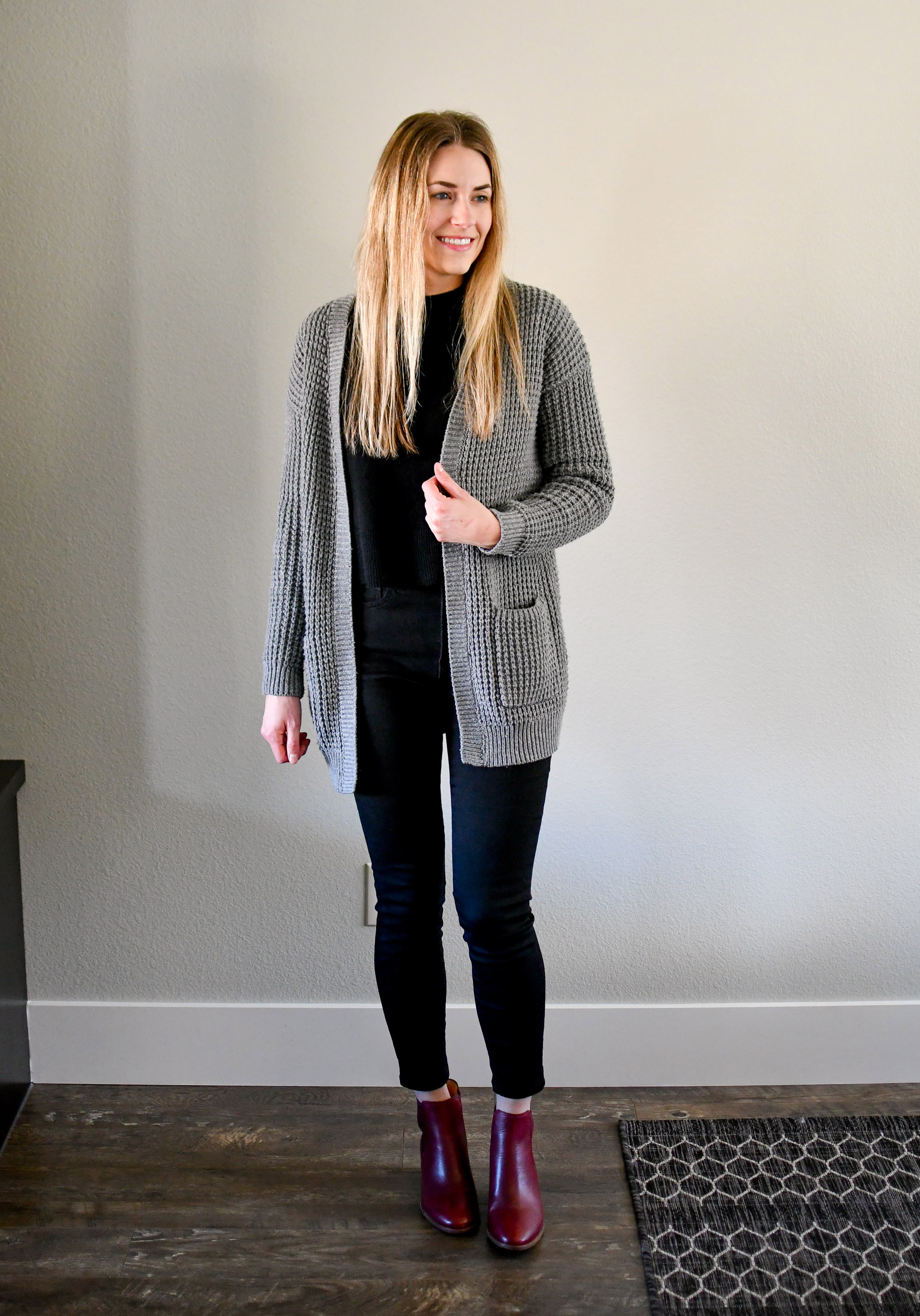 January Style Sudoku: row 1 outfit — Cotton Cashmere Cat Hair