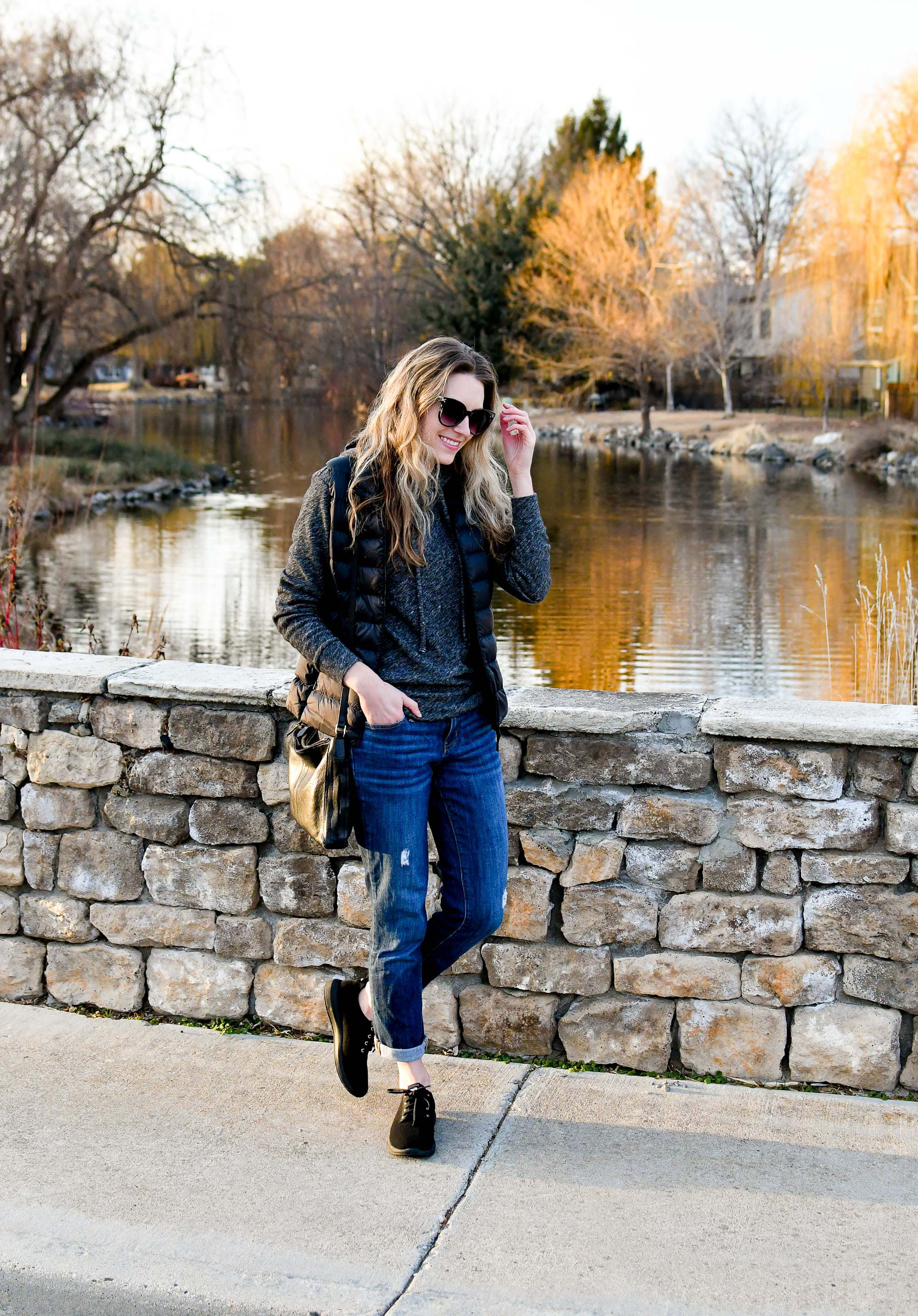 Casual winter weekend outfit — Cotton Cashmere Cat Hair