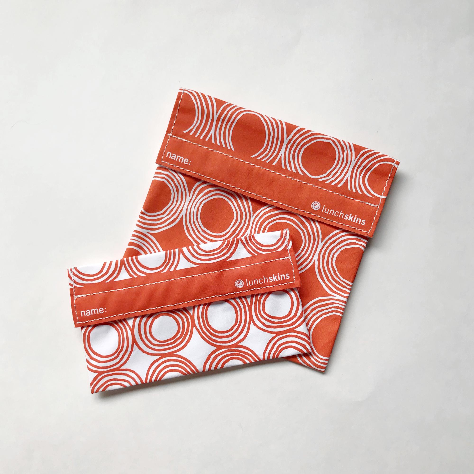 MightyFix LunchSkins reusable sandwich bag set — Cotton Cashmere Cat Hair