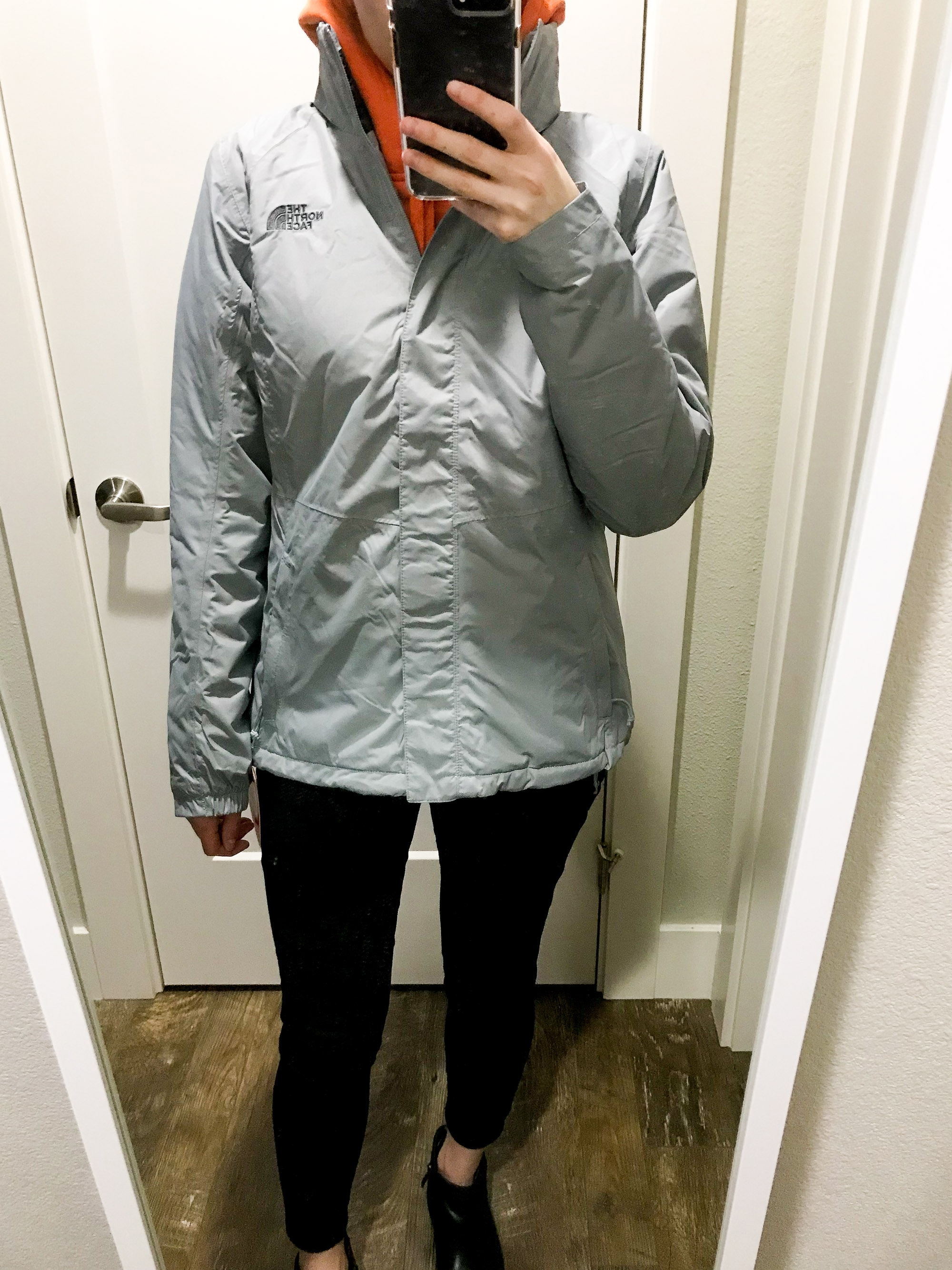The North Face Resolve Insulated Jacket — Cotton Cashmere Cat Hair