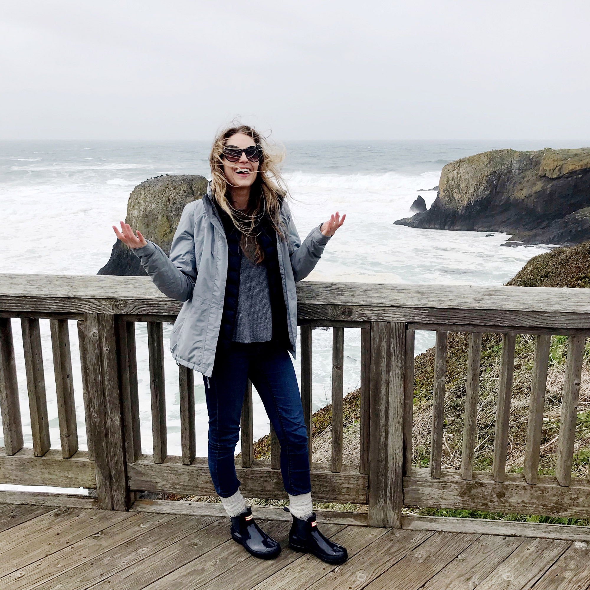 Windy day on the Oregon Coast — Cotton Cashmere Cat Hair