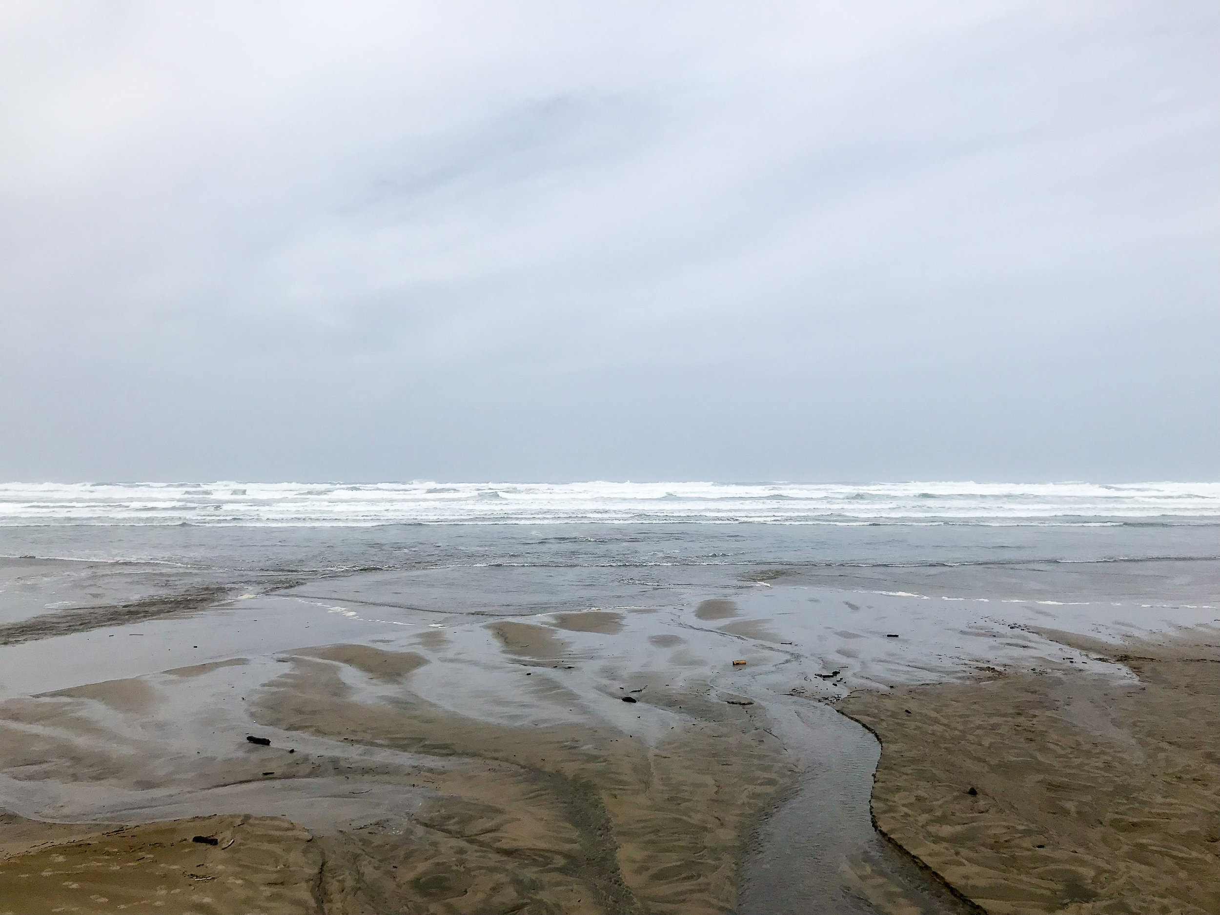 Nye Beach, Newport, Oregon — Cotton Cashmere Cat Hair