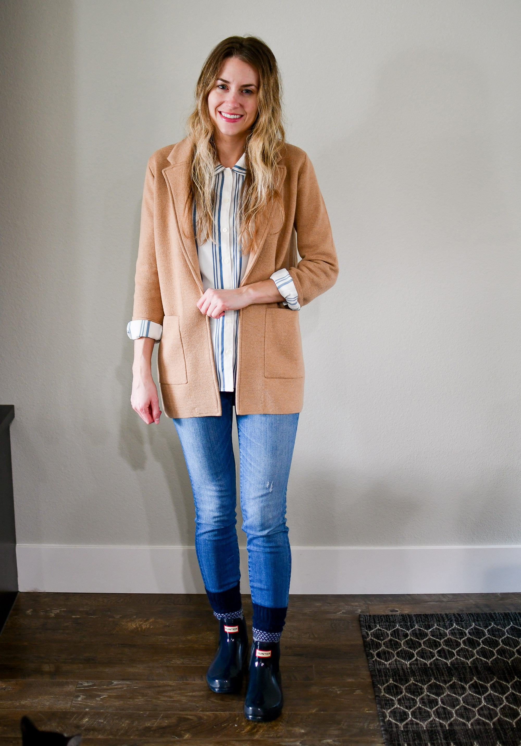 April Style Sudoku: row 1 outfit — Cotton Cashmere Cat Hair