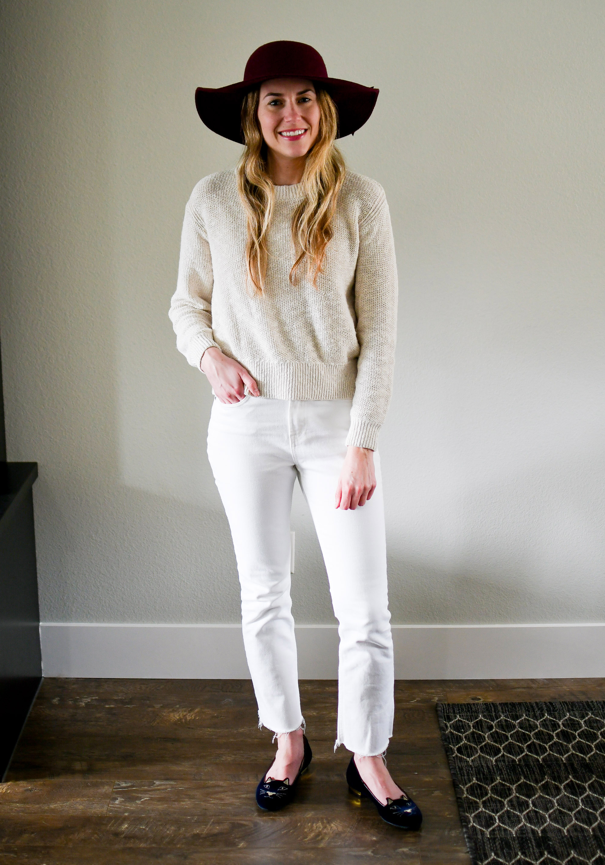 April Style Sudoku: row 3 outfit — Cotton Cashmere Cat Hair