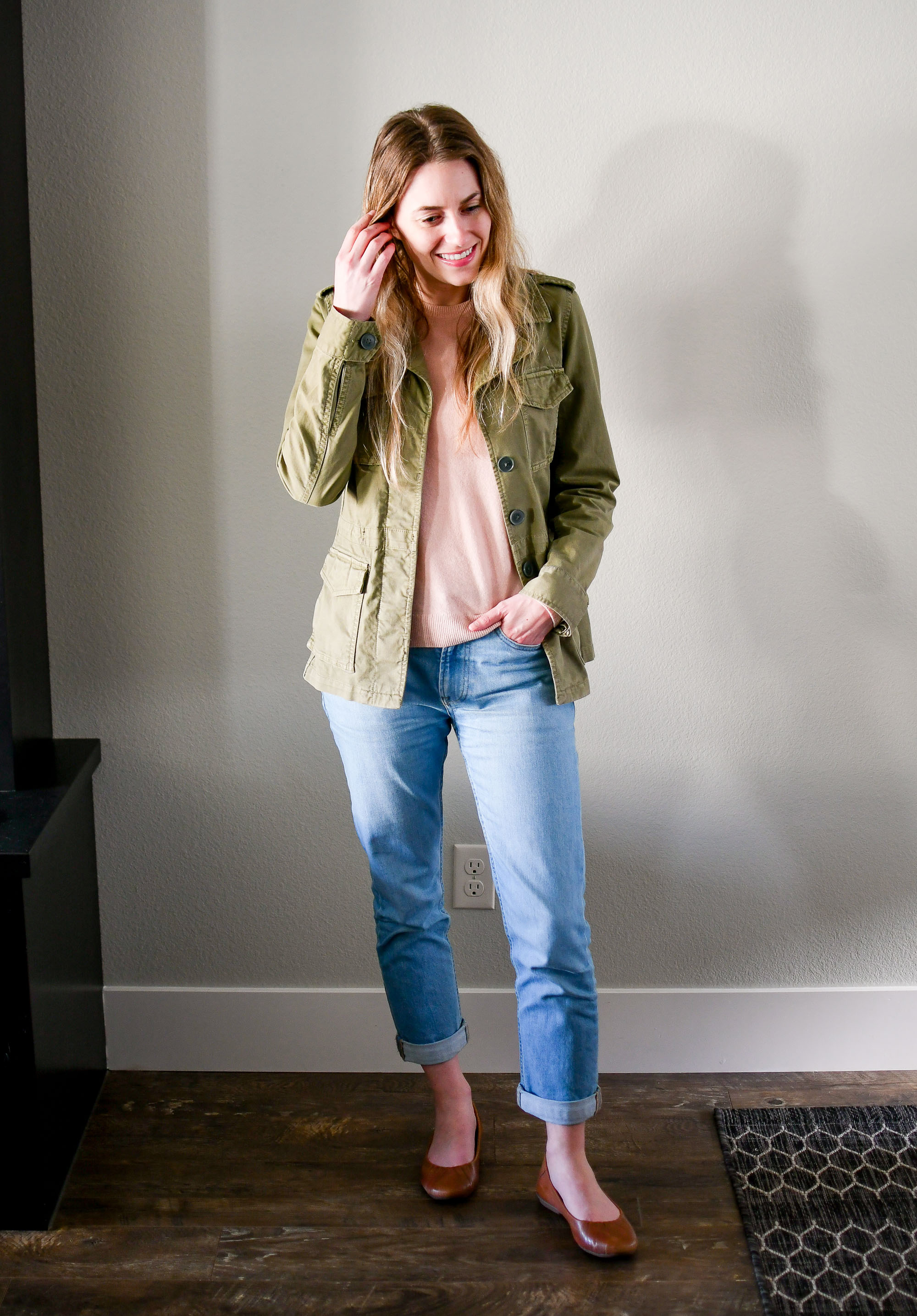 April Style Sudoku: row 4 outfit — Cotton Cashmere Cat Hair