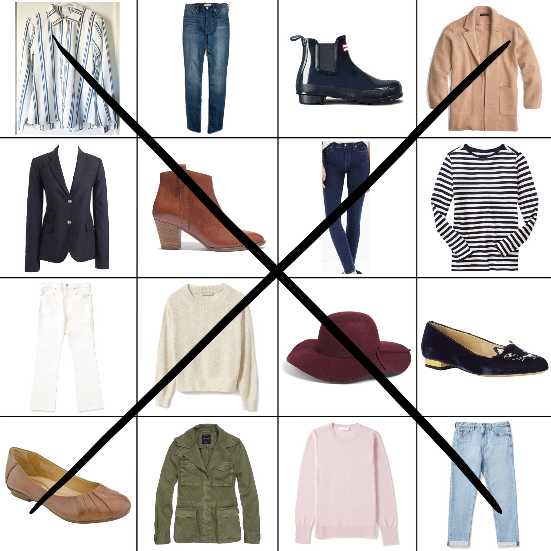 April Style Sudoku: 2 diagonal outfits — Cotton Cashmere Cat Hair