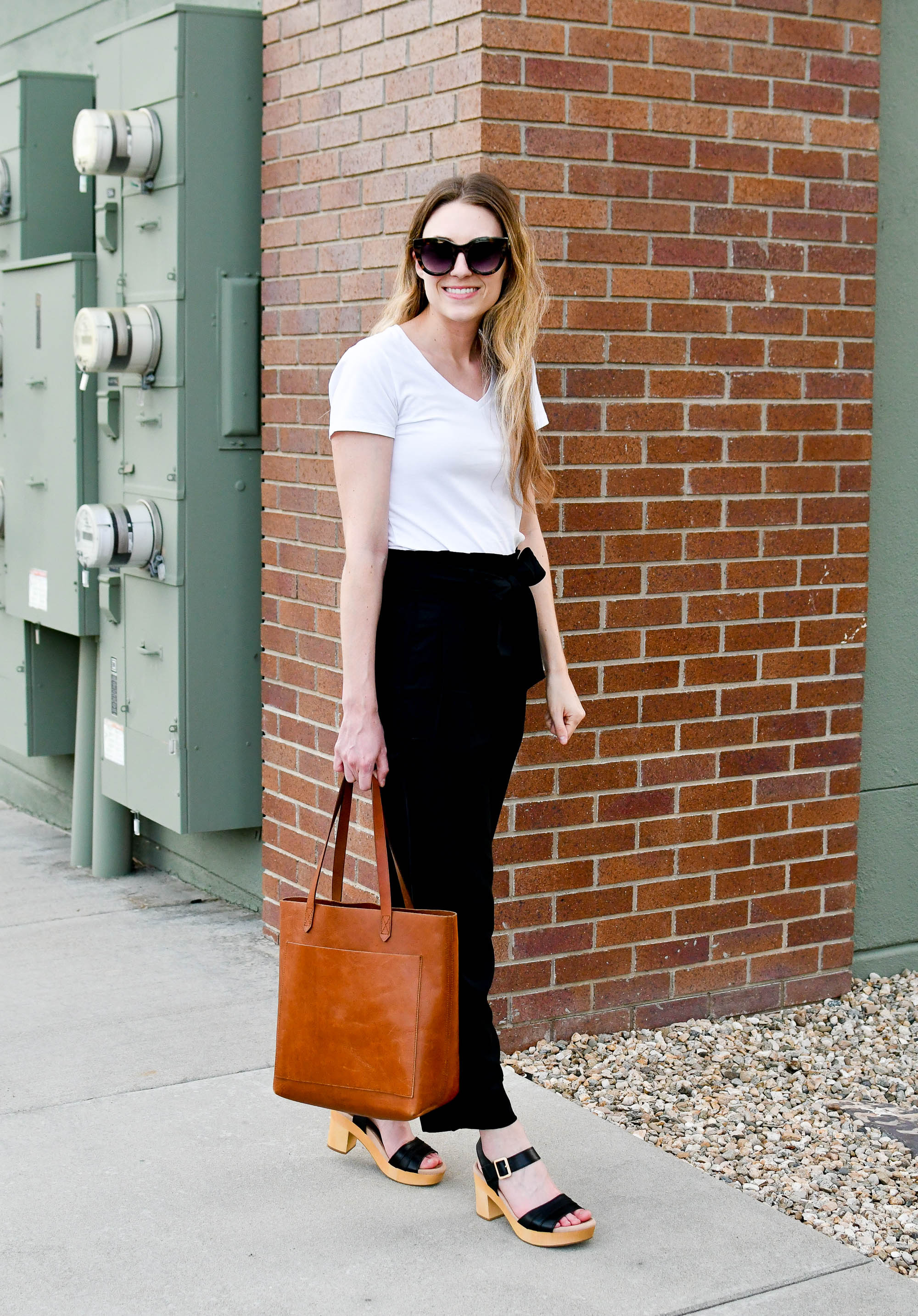 Classic black and white for work — Cotton Cashmere Cat Hair