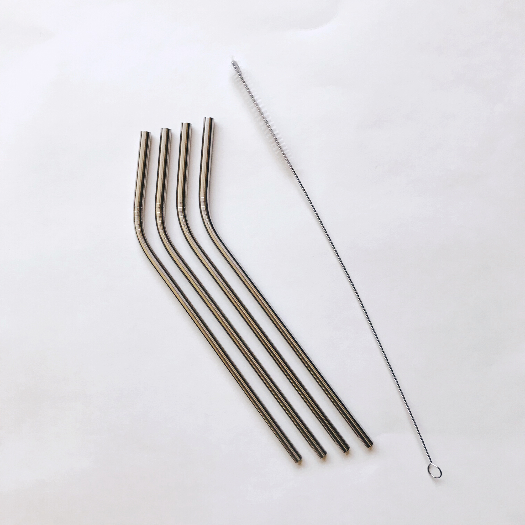 MightyFix RSVP Endurance stainless steel straws and EcoJarz stainless steel straw cleaner — Cotton Cashmere Cat Hair