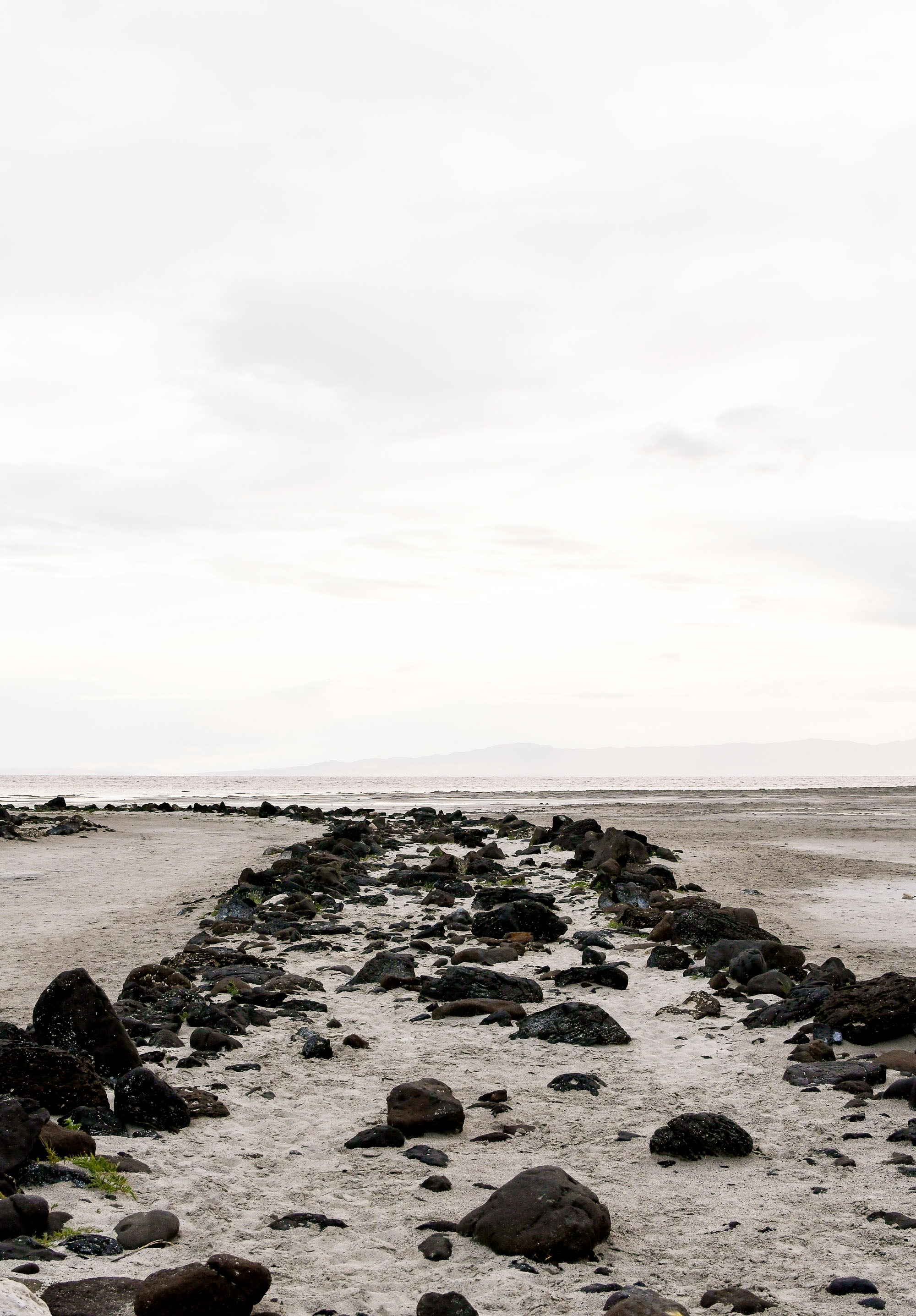 Spiral Jetty at the Great Salt Lake, northern Utah — Cotton Cashmere Cat Hair