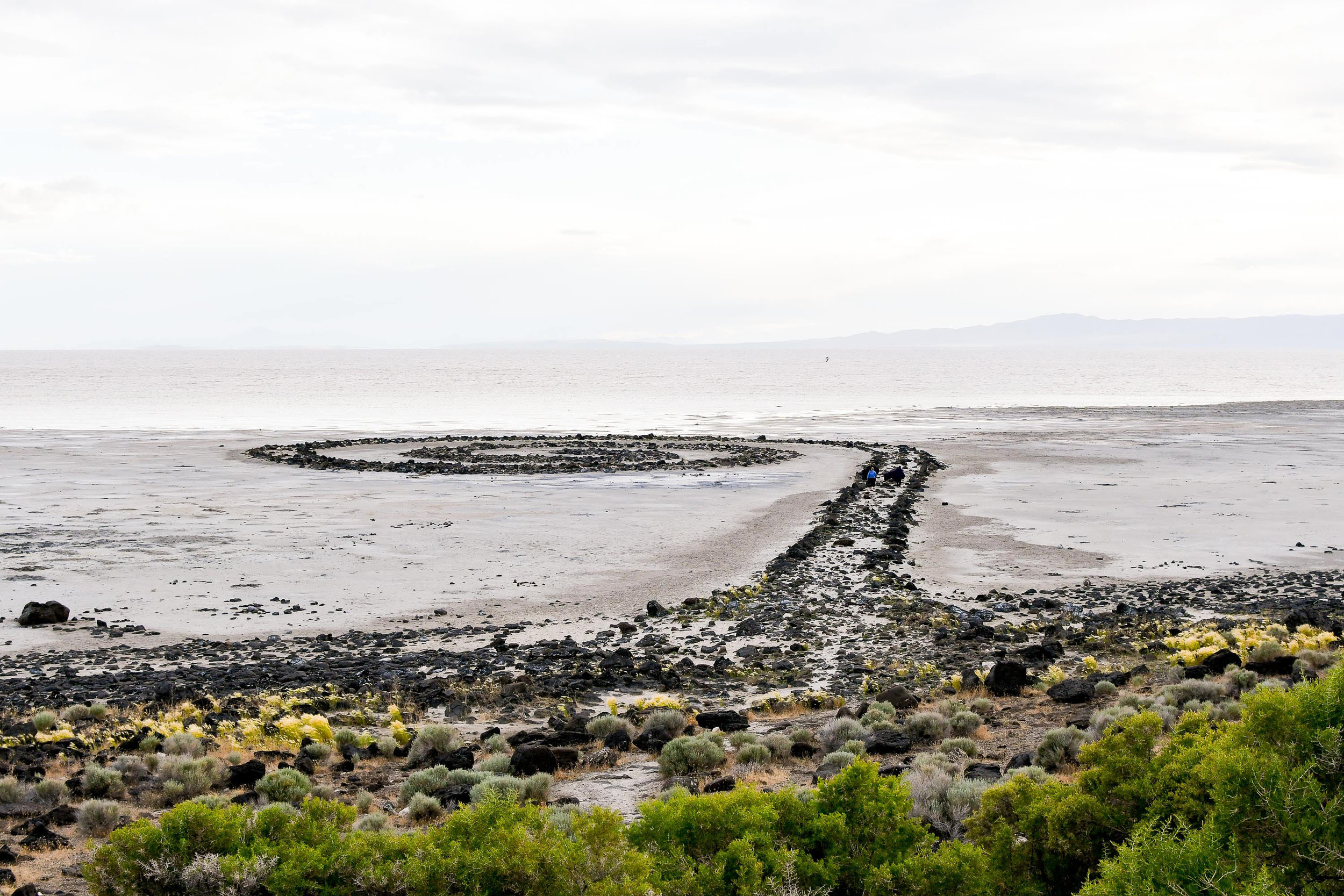 Spiral Jetty during the summer solstice, Great Salt Lake, Utah — Cotton Cashmere Cat Hair