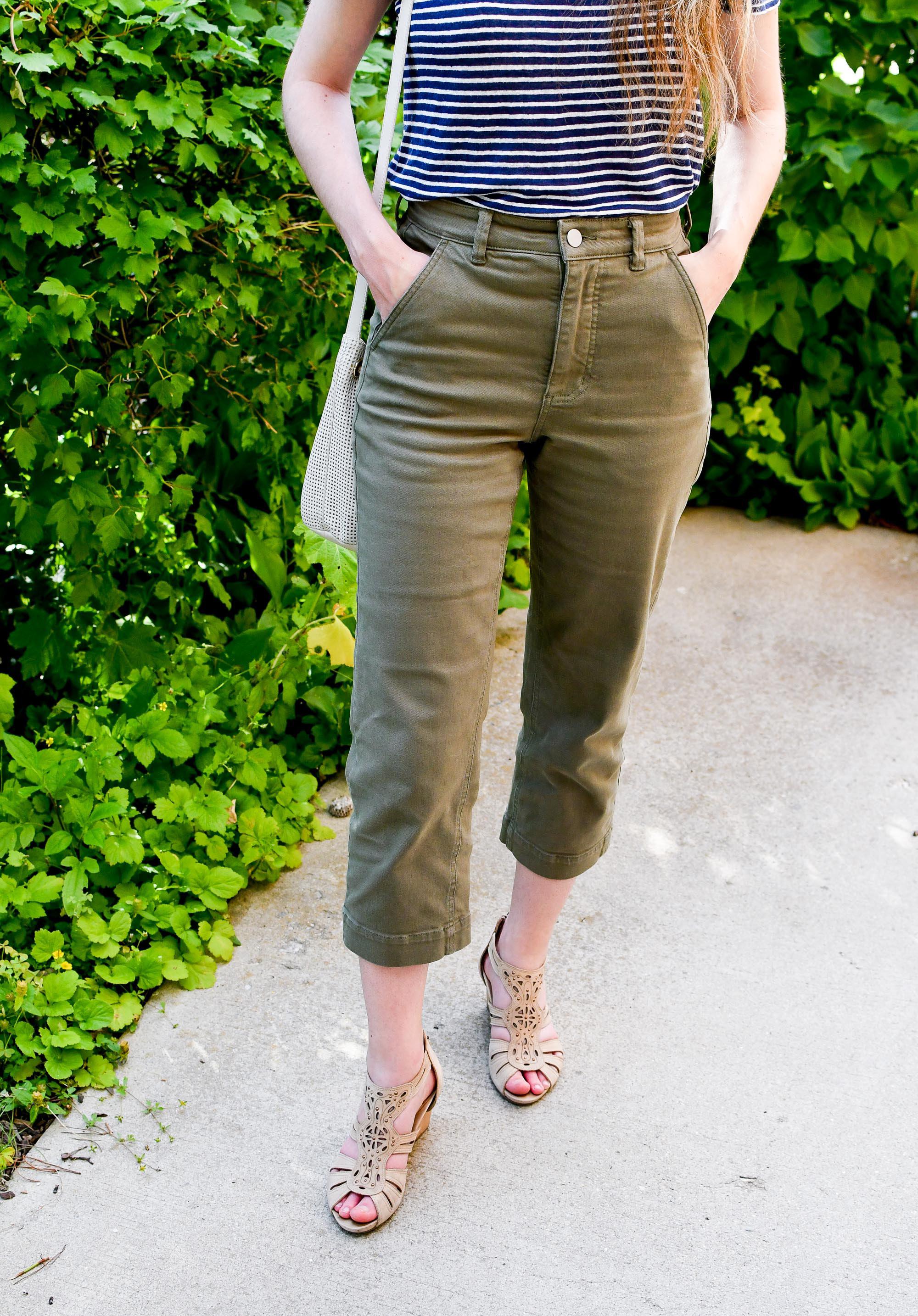 Everlane straight leg crop pants in surplus — Cotton Cashmere Cat Hair