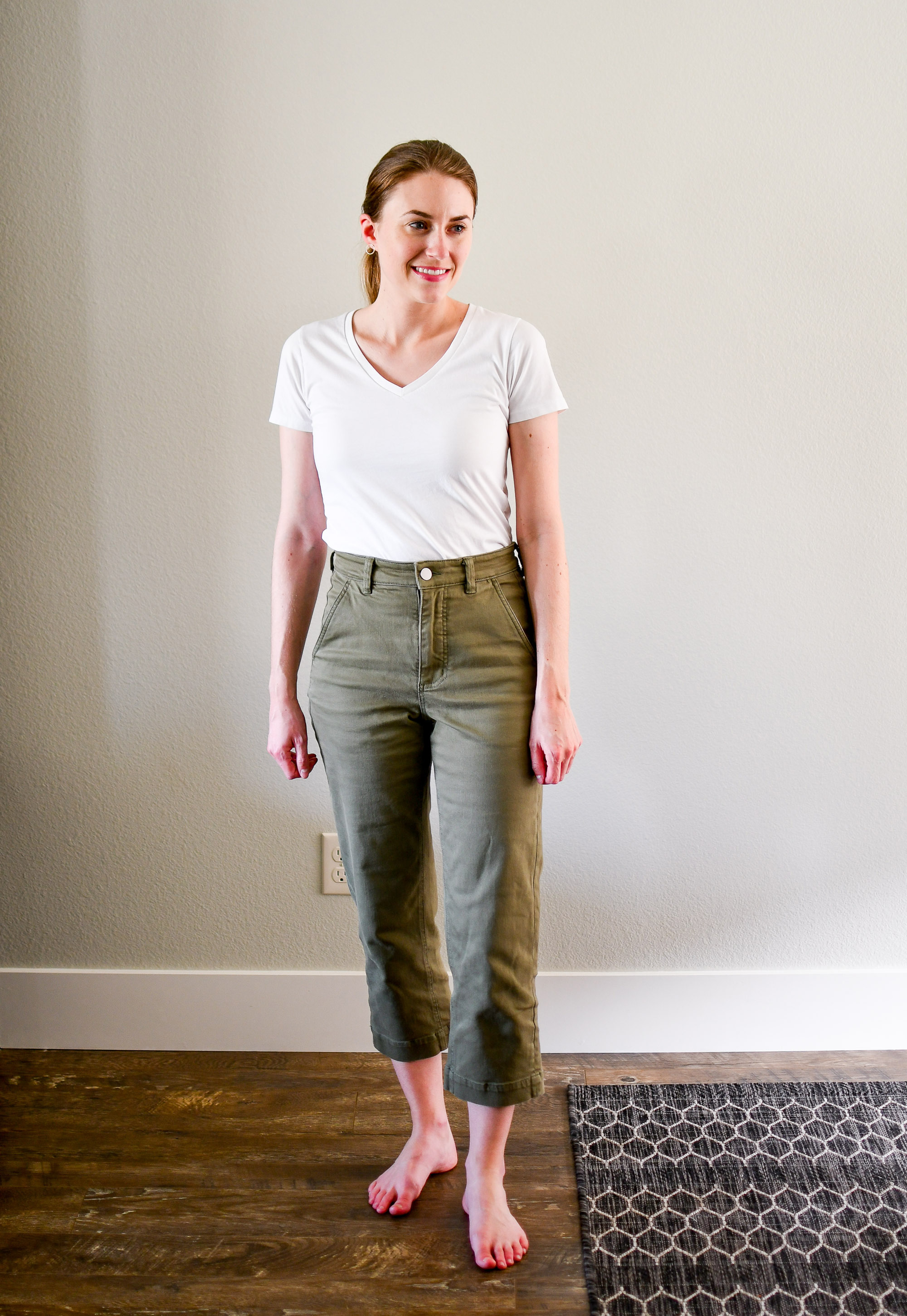Everlane The Straight Leg Crop in surplus — Cotton Cashmere Cat Hair