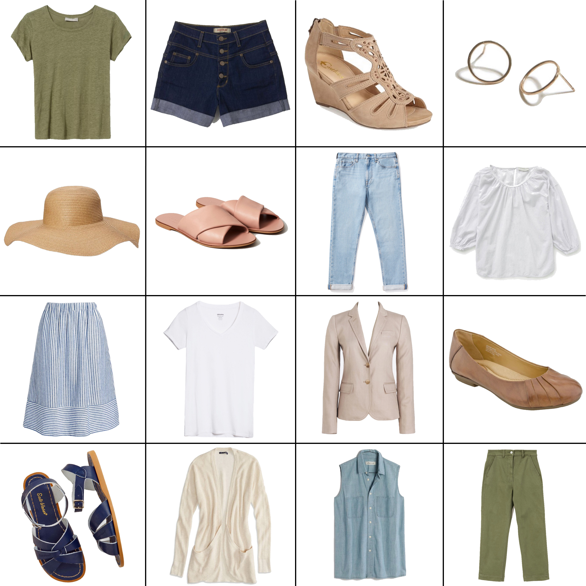 July Style Sudoku: 16 items, 14+ outfits — Cotton Cashmere Cat Hair
