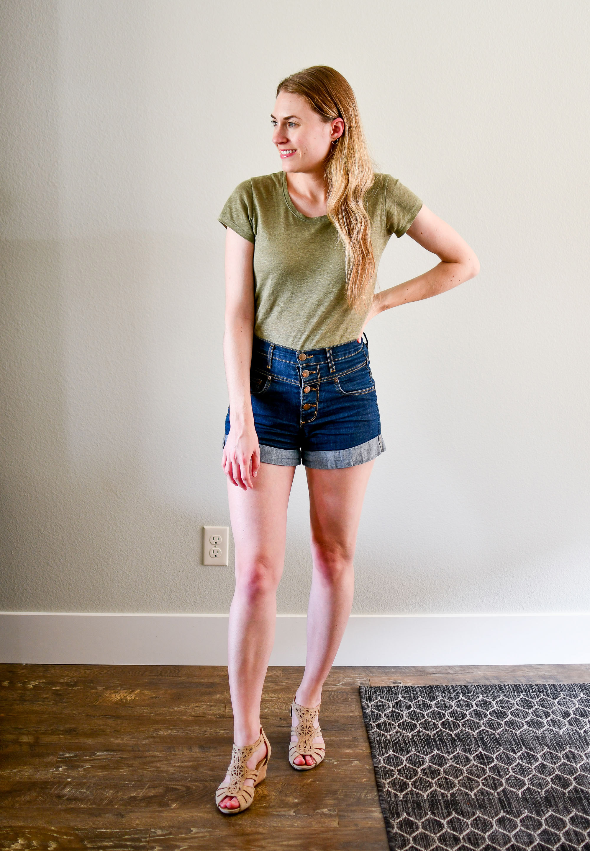 July Style Sudoku: row 1 outfit — Cotton Cashmere Cat Hair
