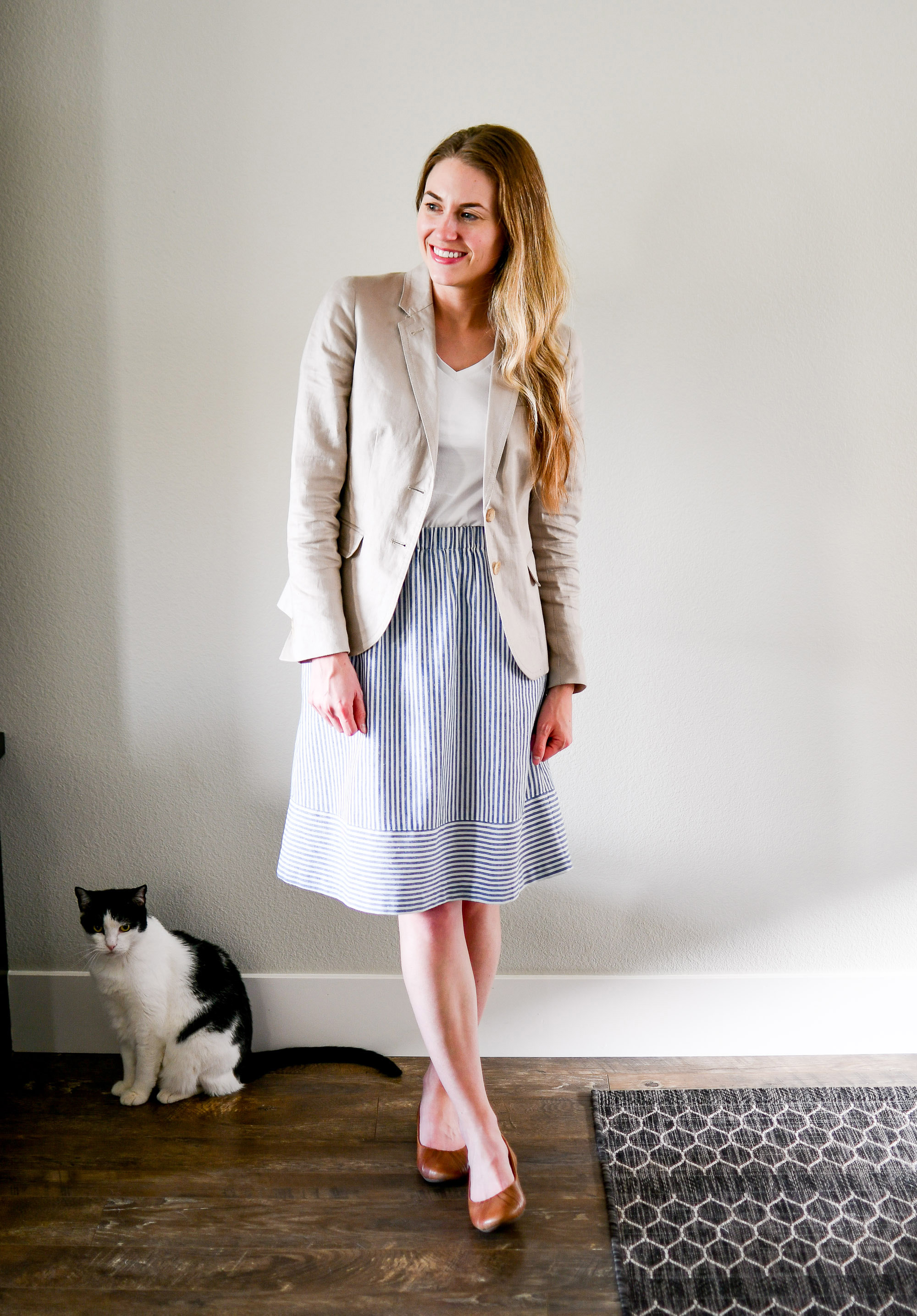 July Style Sudoku: row 3 outfit — Cotton Cashmere Cat Hair