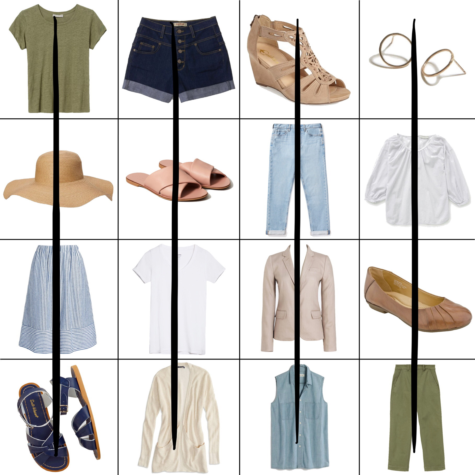 July Style Sudoku: 4 column outfits — Cotton Cashmere Cat Hair