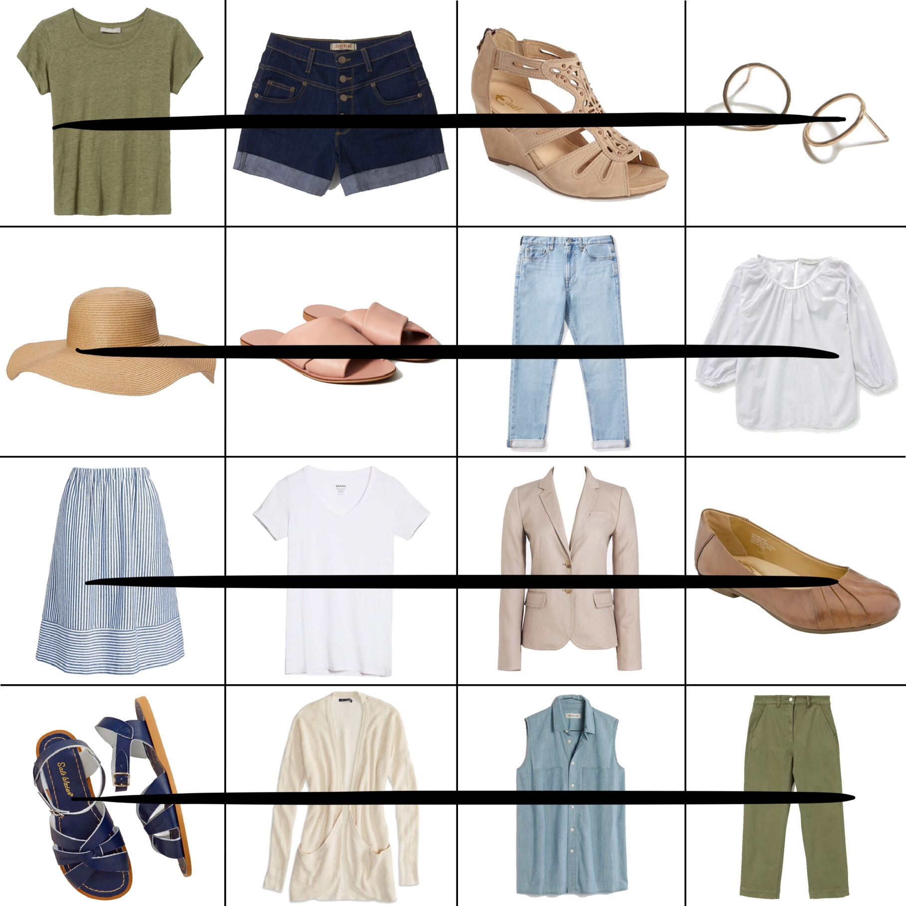 July Style Sudoku: 4 row outfits — Cotton Cashmere Cat Hair