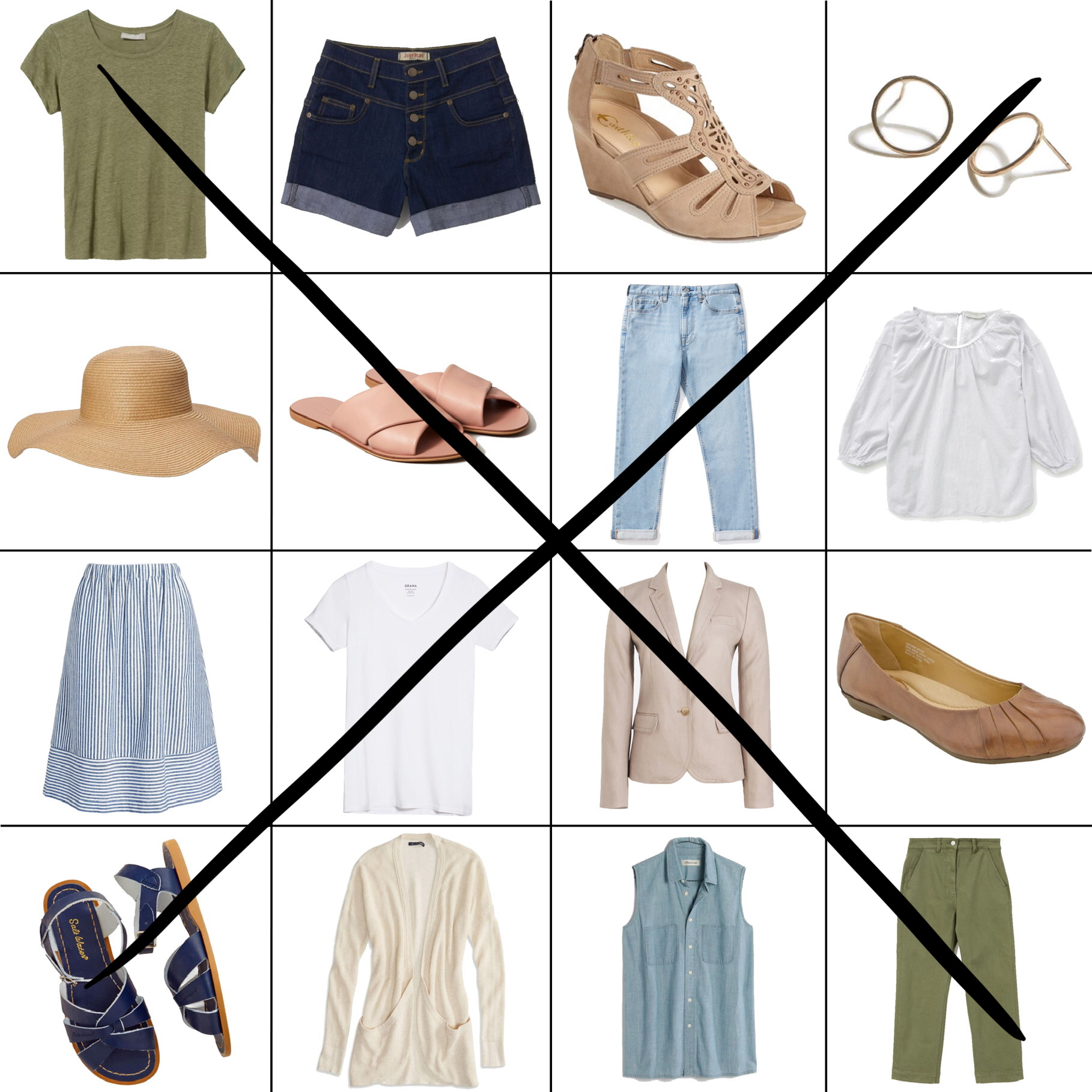 July Style Sudoku: 2 diagonal outfits — Cotton Cashmere Cat Hair