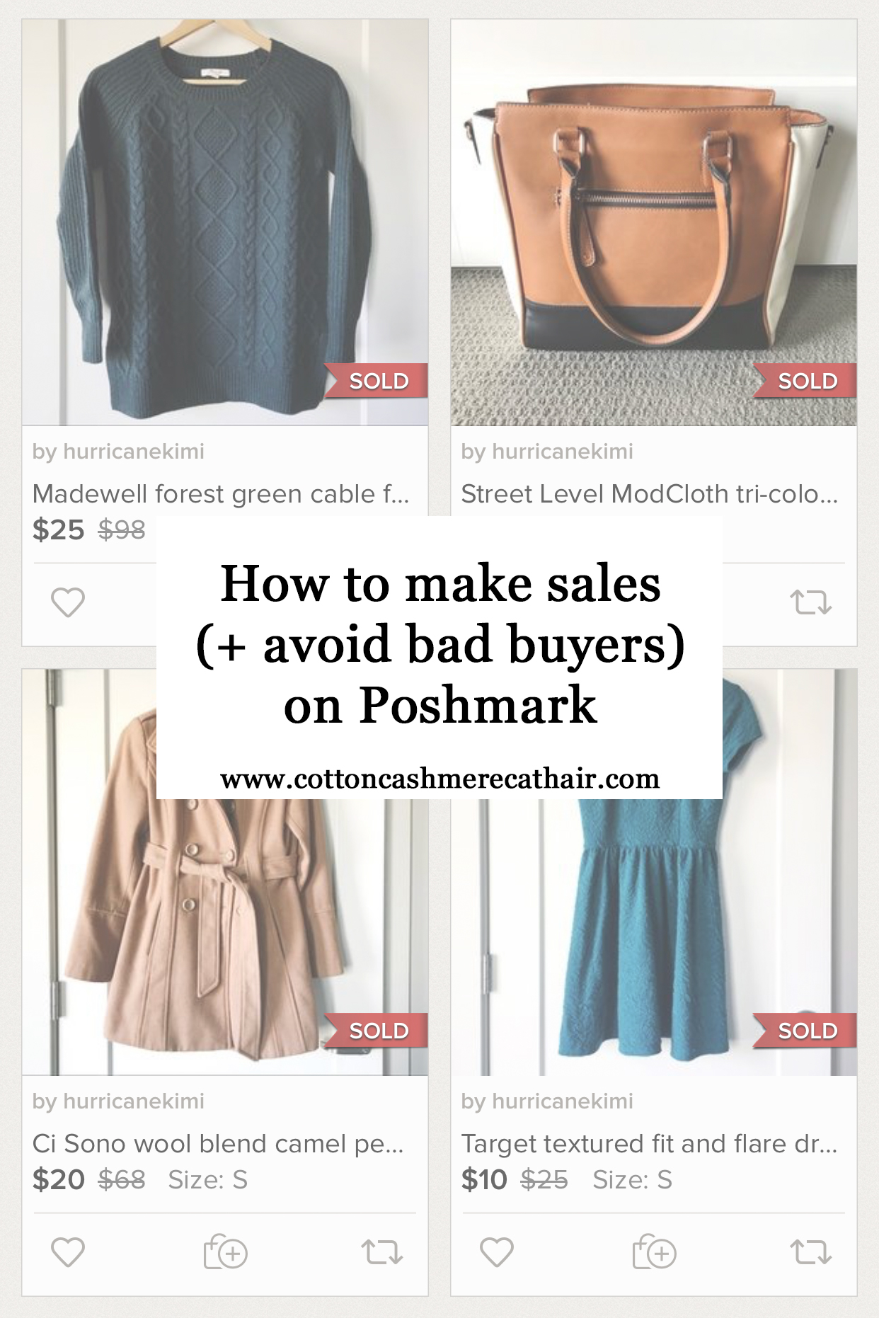 Tips for making sales and avoiding bad buyers on Poshmark — Cotton Cashmere Cat Hair