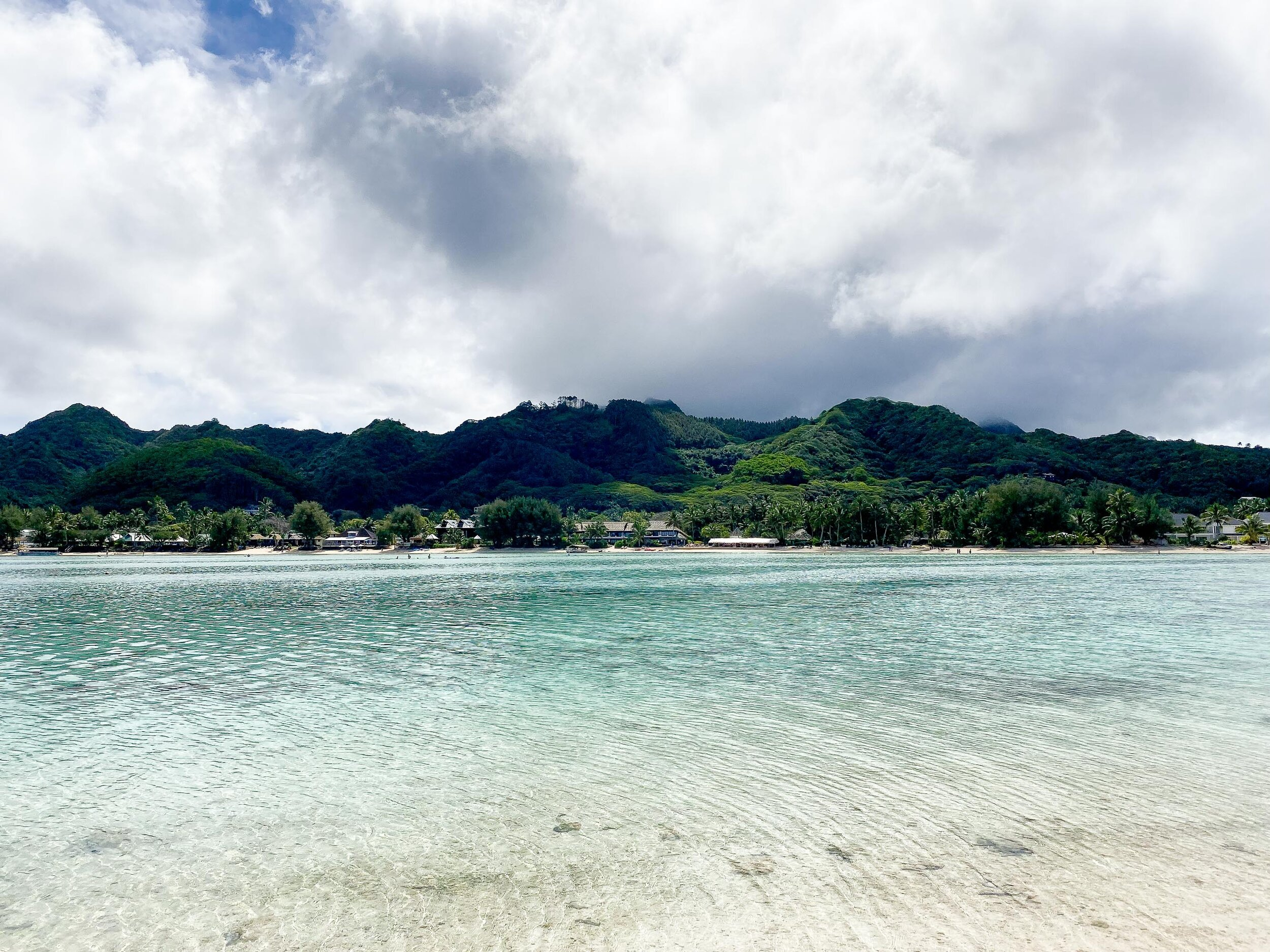 View of Rarotonga from Koromiri, Cook Islands — Cotton Cashmere Cat Hair