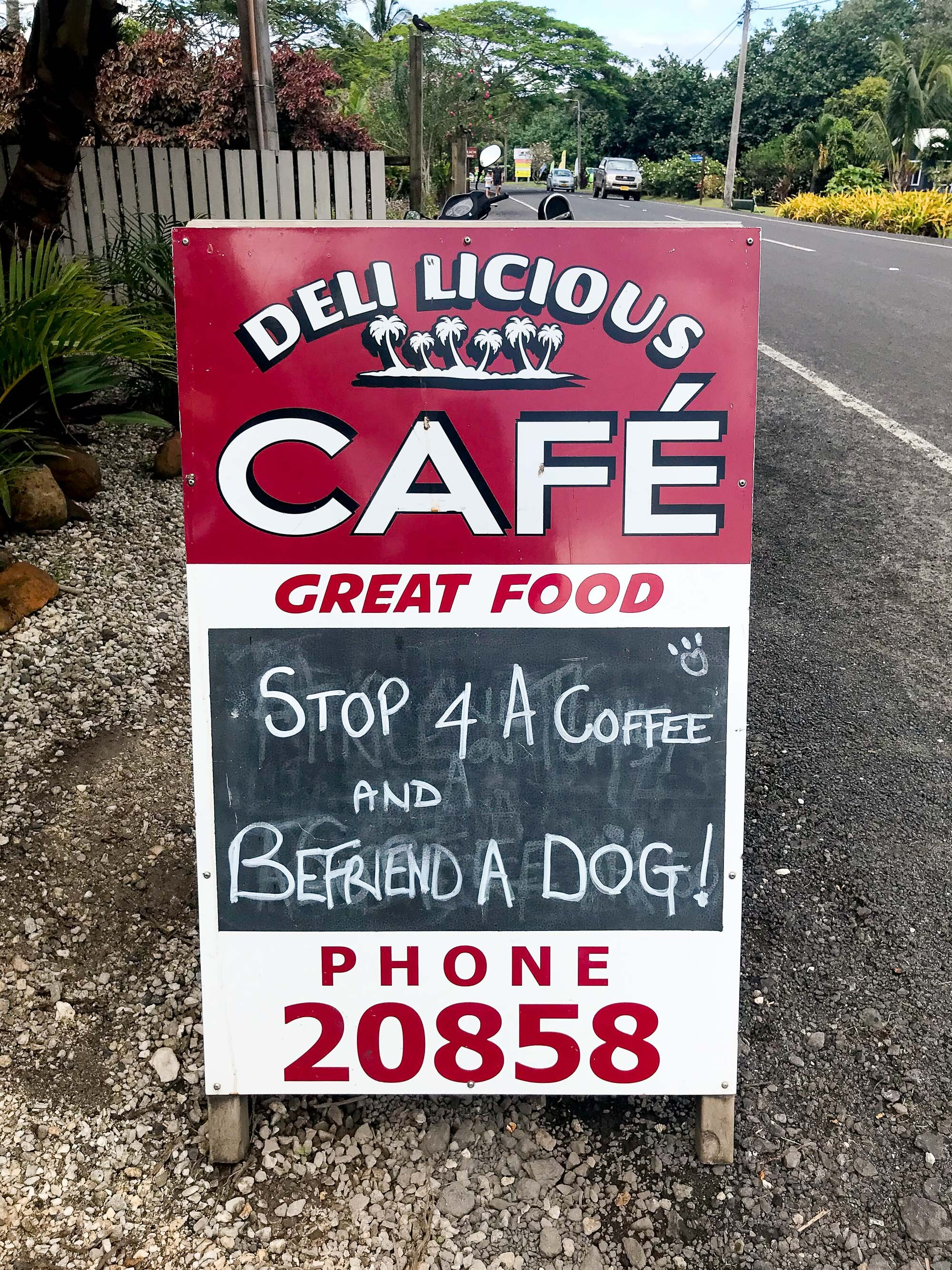 Breakfast at Deli Licious Cafe, Rarotonga, Cook Islands — Cotton Cashmere Cat Hair