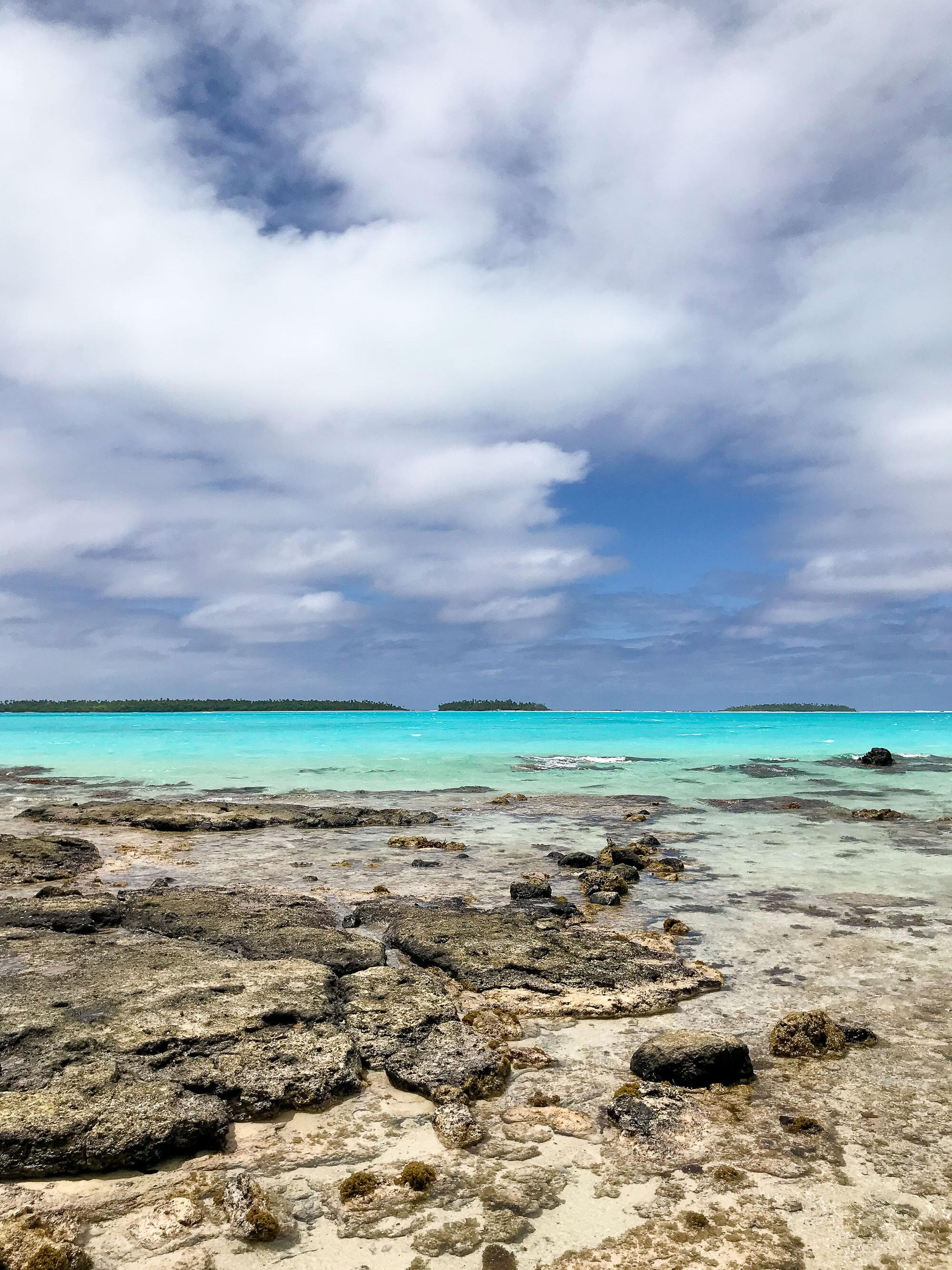 Looking towards One Foot Island, Aitutaki, Cook Islands — Cotton Cashmere Cat Hair