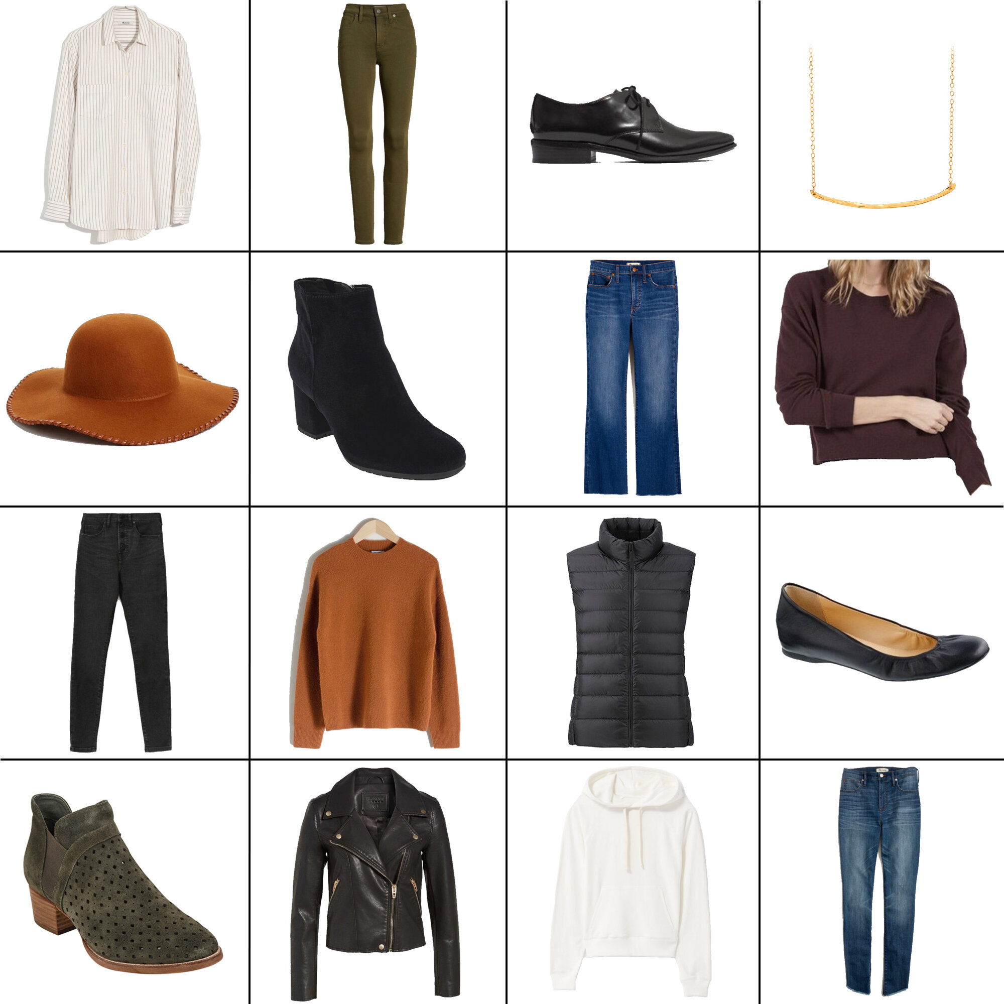 October Style Sudoku: 16 items, 14+ outfits — Cotton Cashmere Cat Hair