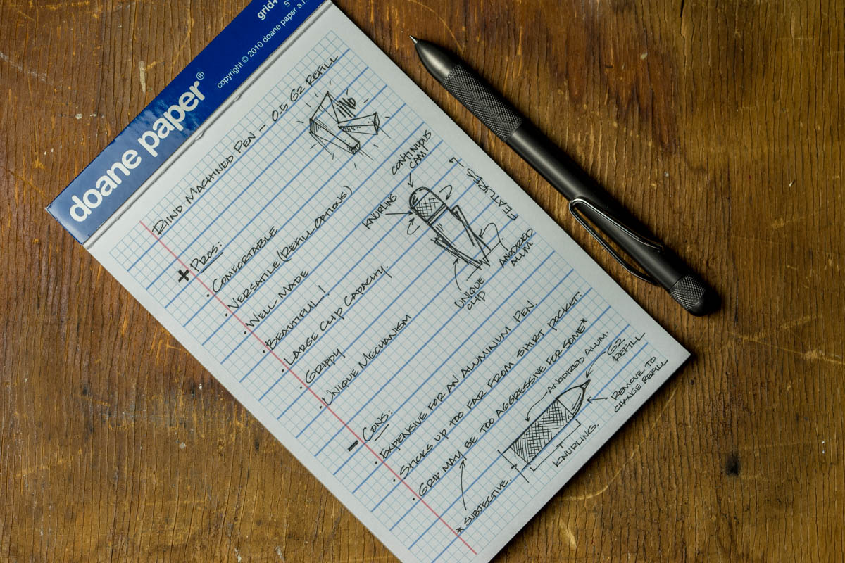 The G2 refill is one of my favorites and makes a great companion for standard paper.