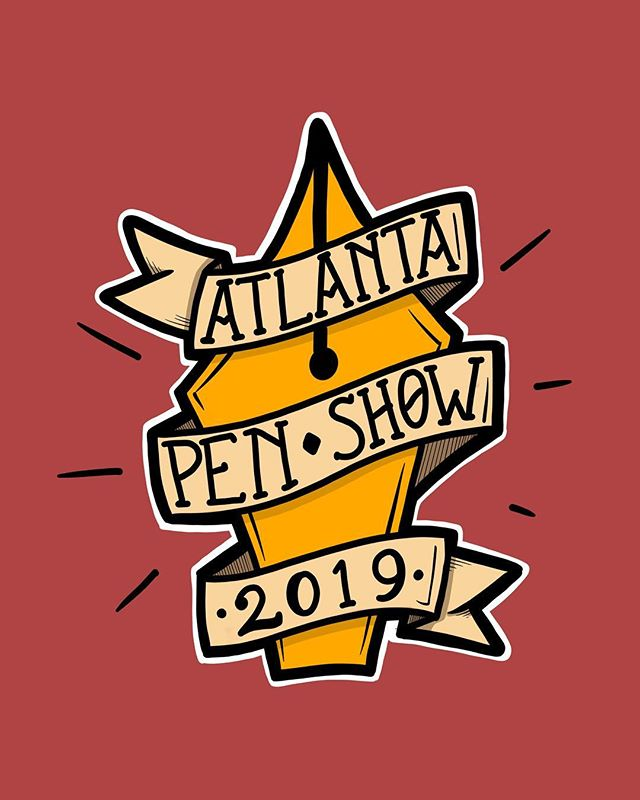 Last doodle of the day! Great opening session at the @atlantapenshow 2019! Such a great group of folks. Look for me and @brooks_803 at the Carolina Pen Co table! #penaddict #doodle #draw #atlantapenshow2019 #ipad #ipadart #applepencil #pens #ink #paper #atl