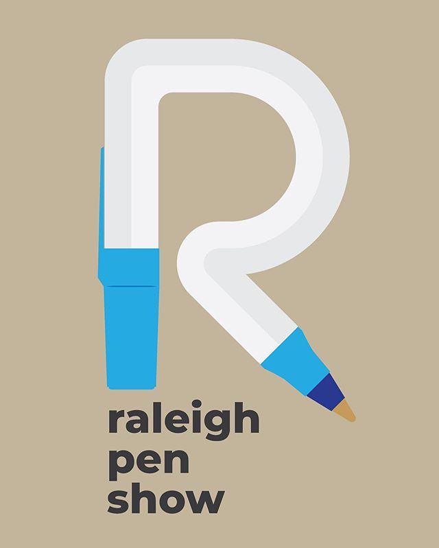 I'll be at the Triangle (Raleigh) Pen Show this year on Saturday and Sunday, probably fanboying at the @brooks_803 table (because, duh, it's Brooksy). Come find me and I might have a fun sticker in my pocket for you! #penaddict #pens #ink #paper #penshows #raleighpenshow2019 #raleighpenshow #design #illustration #trianglepenshow2019