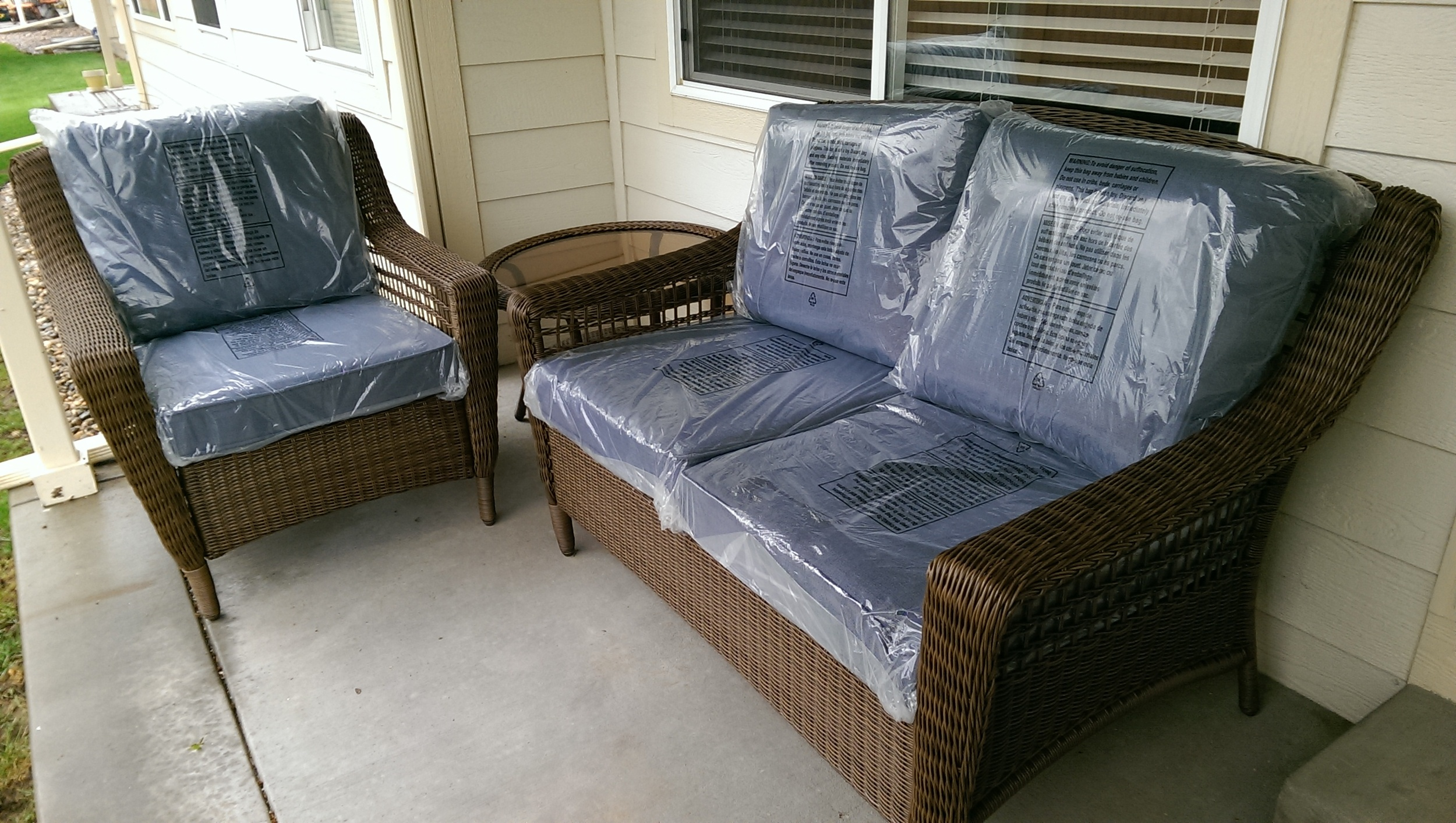 New patio set delivered and assembled.