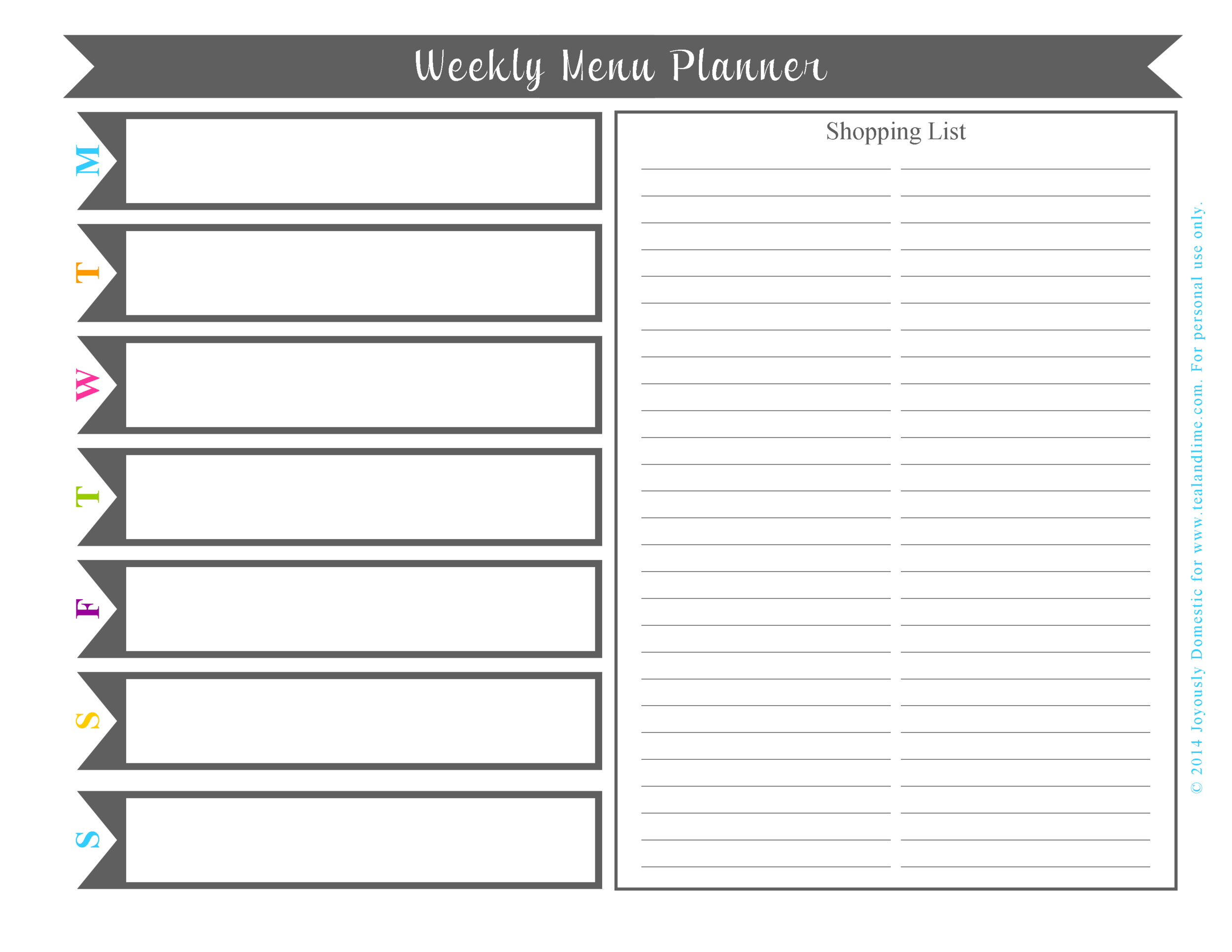 Read this related post from Joyously Domestic and download her printable menu planner.