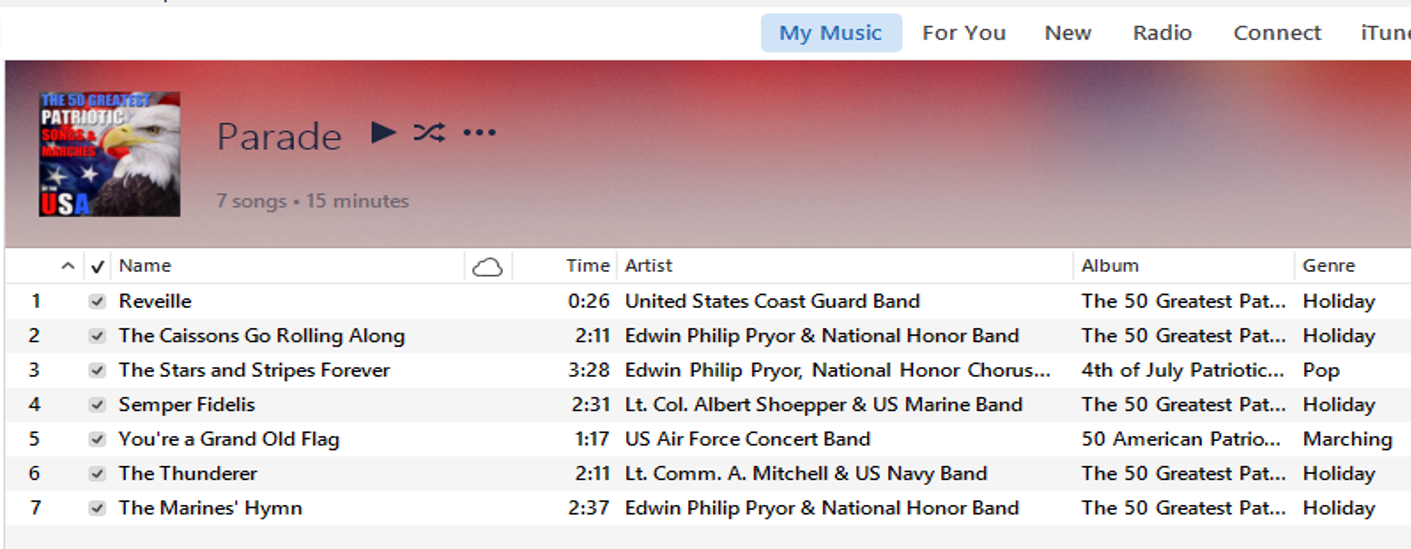 Here is my playlist.