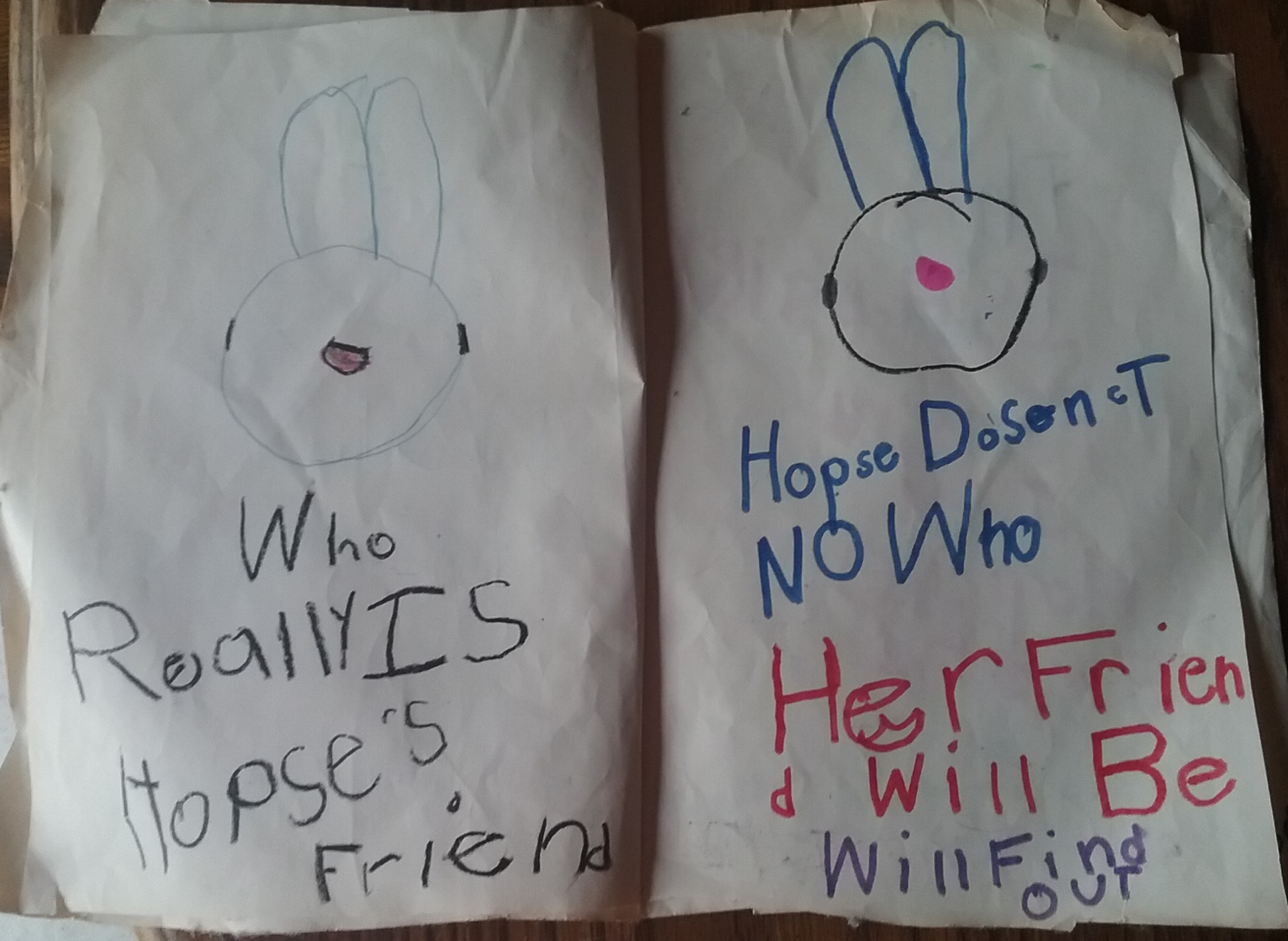 Hopsie's Friend - middle pages.