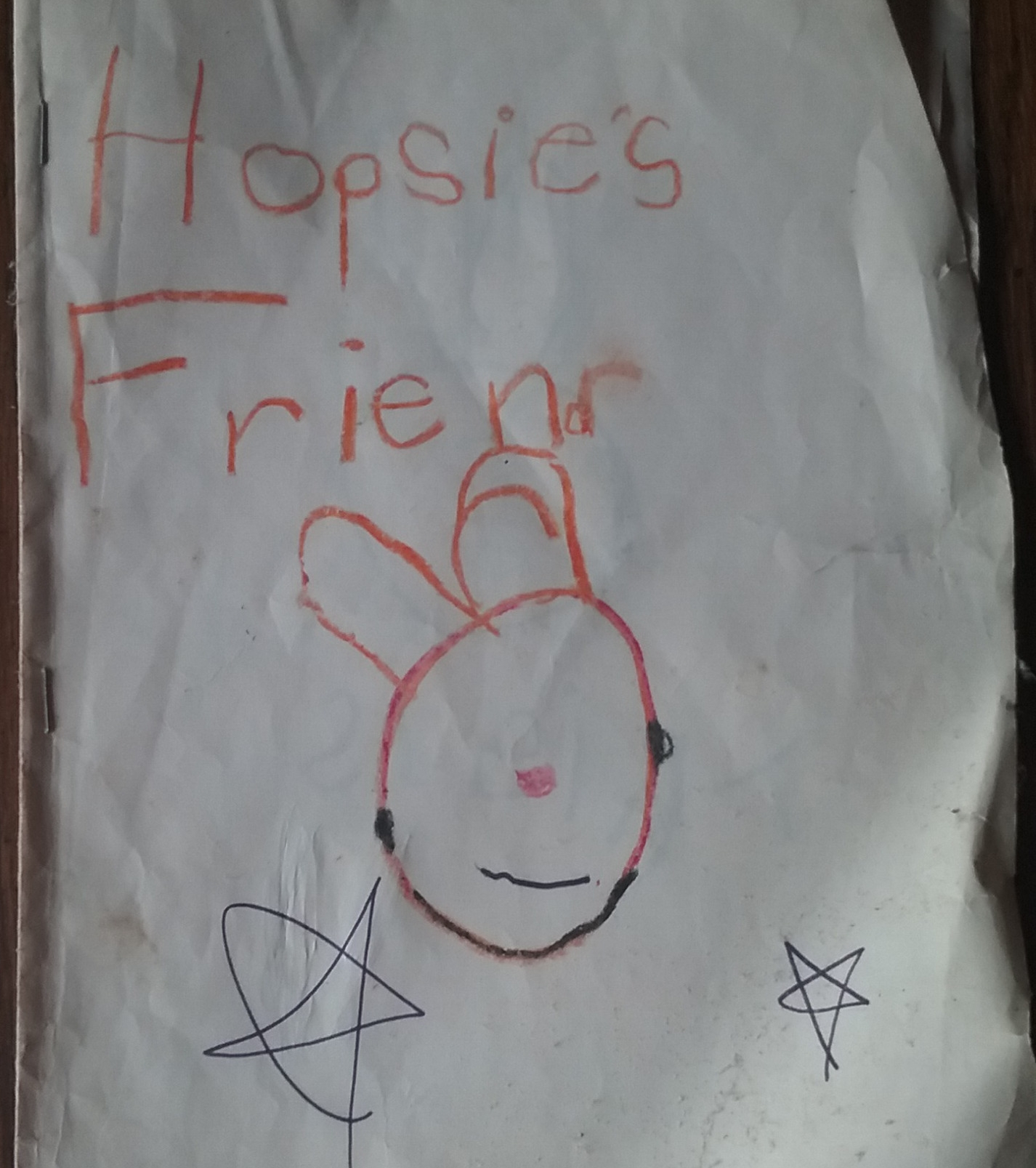 Hopsie's Friend - cover page.