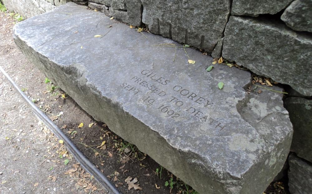 Salem Witch Trials memorial.