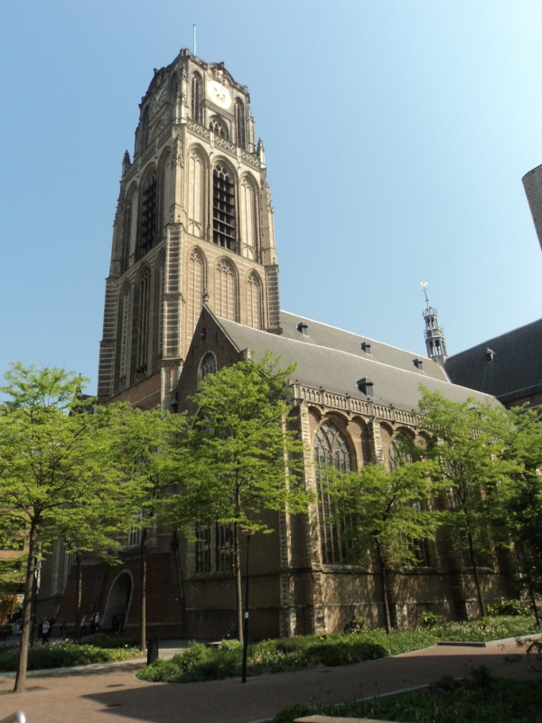 Grote of Sint-Laurenskerk (Great, or St. Lawrence Church), Rotterdam.  (My photo)