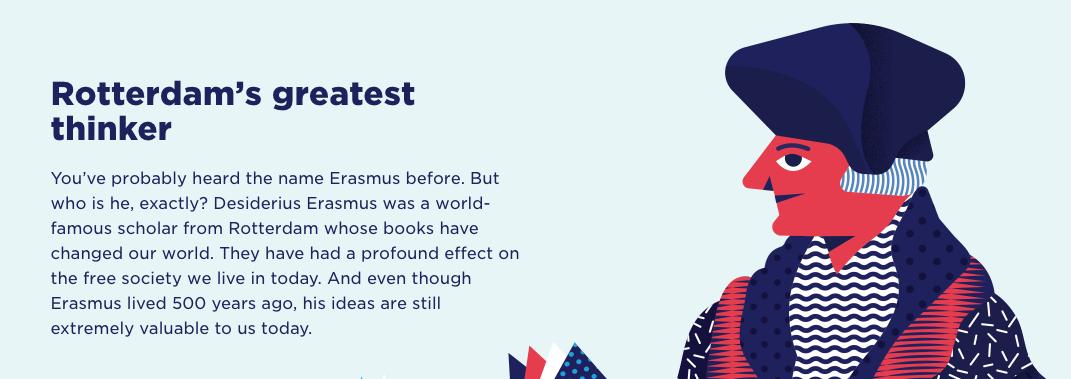 Screenshot of the  Erasmus Experience website .